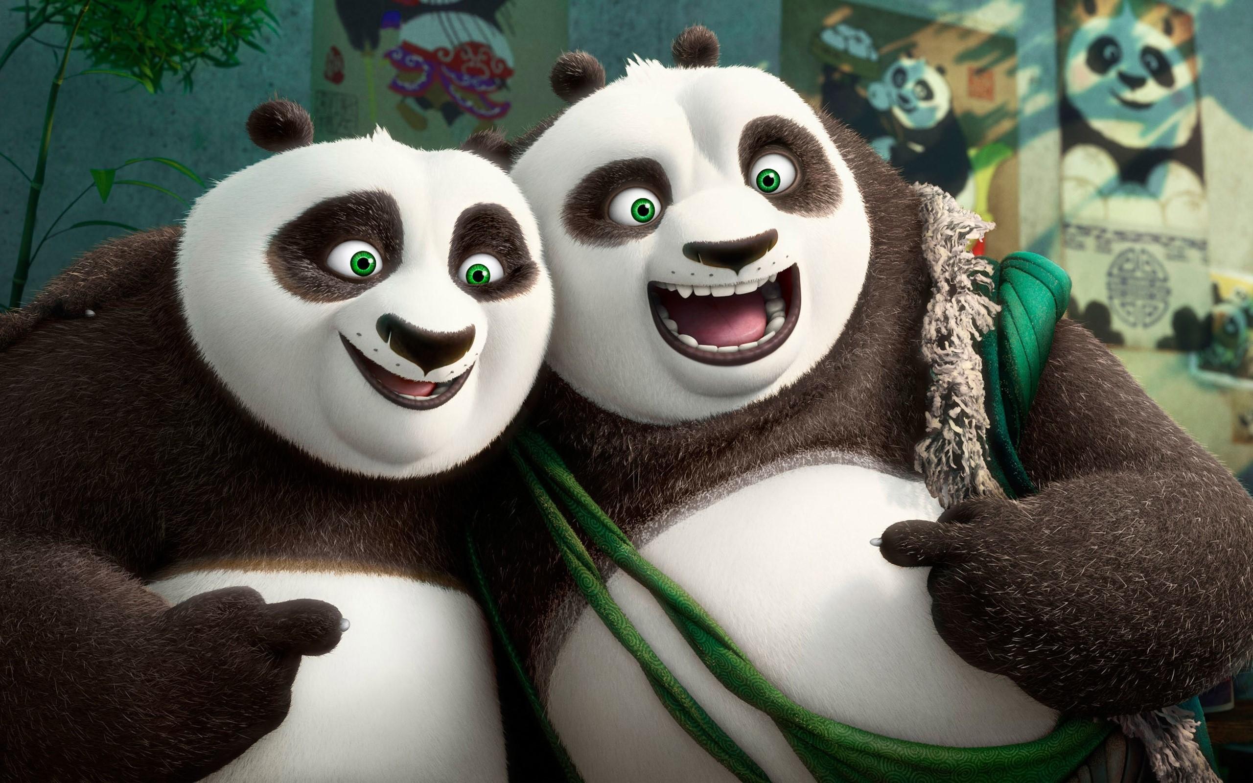 Fondos de pantalla Po y Li en Kung fu panda 3