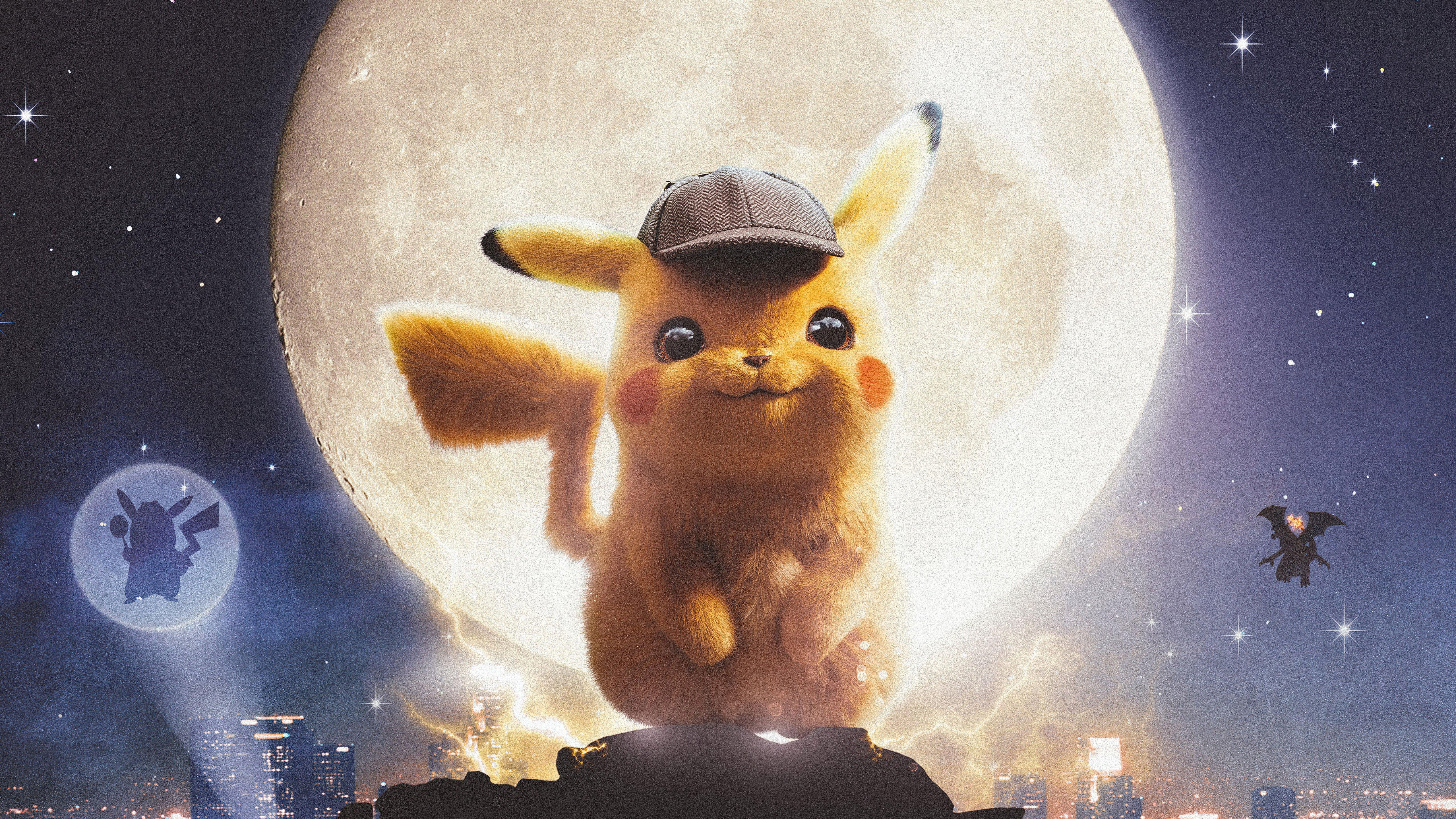 Wallpaper Pokemon Detective PIkachu