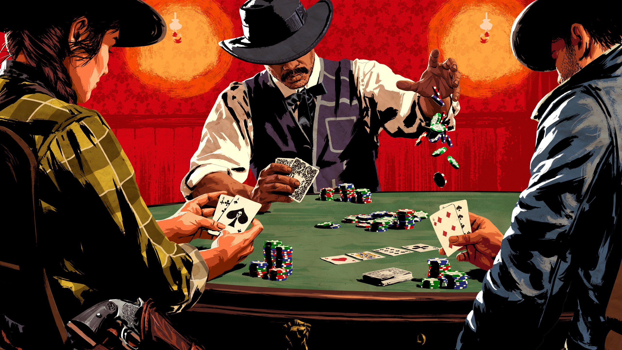 Fondos de pantalla Poker en Red Dead Redemption