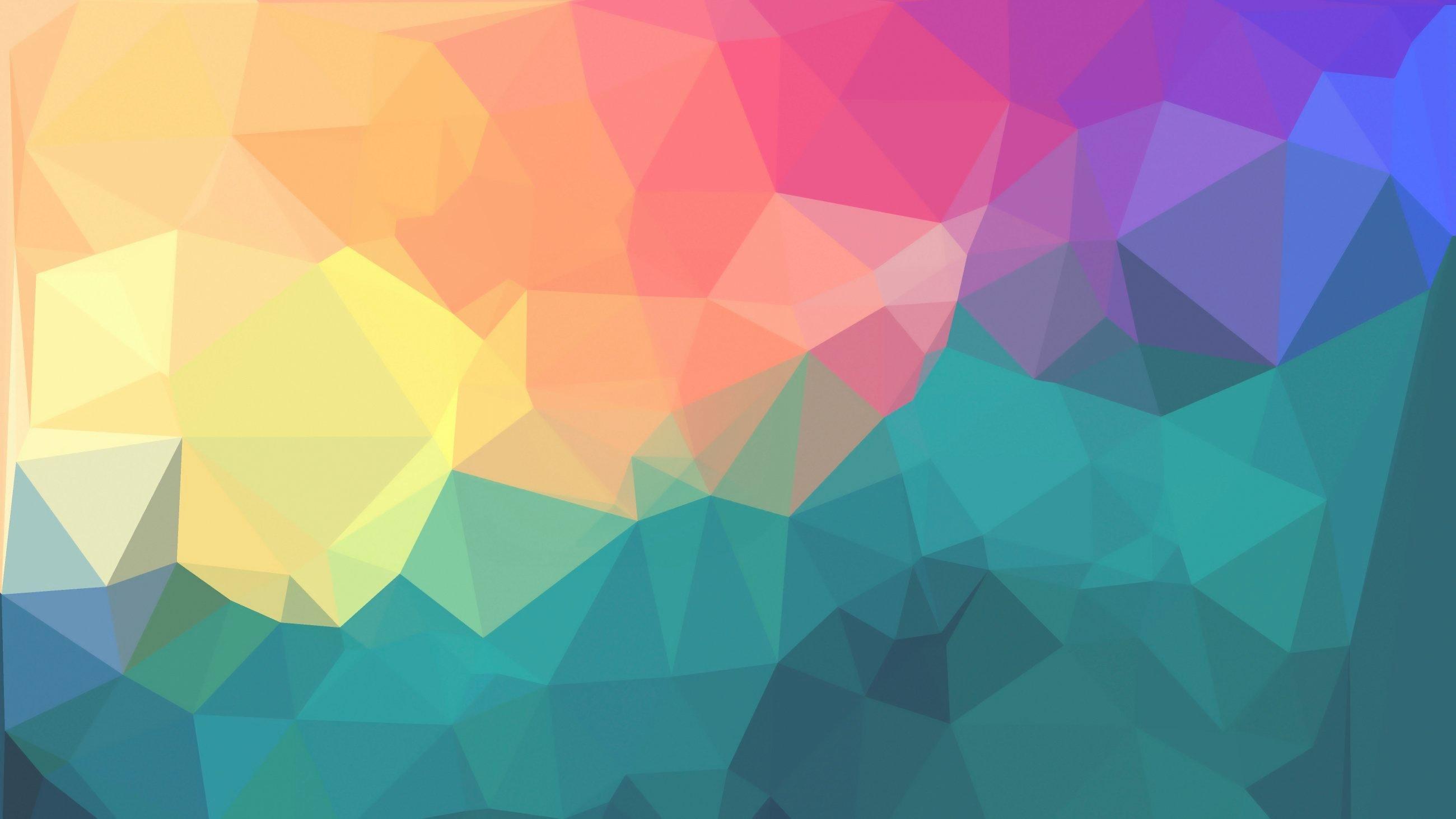 Fondos de pantalla Polígonos de colores