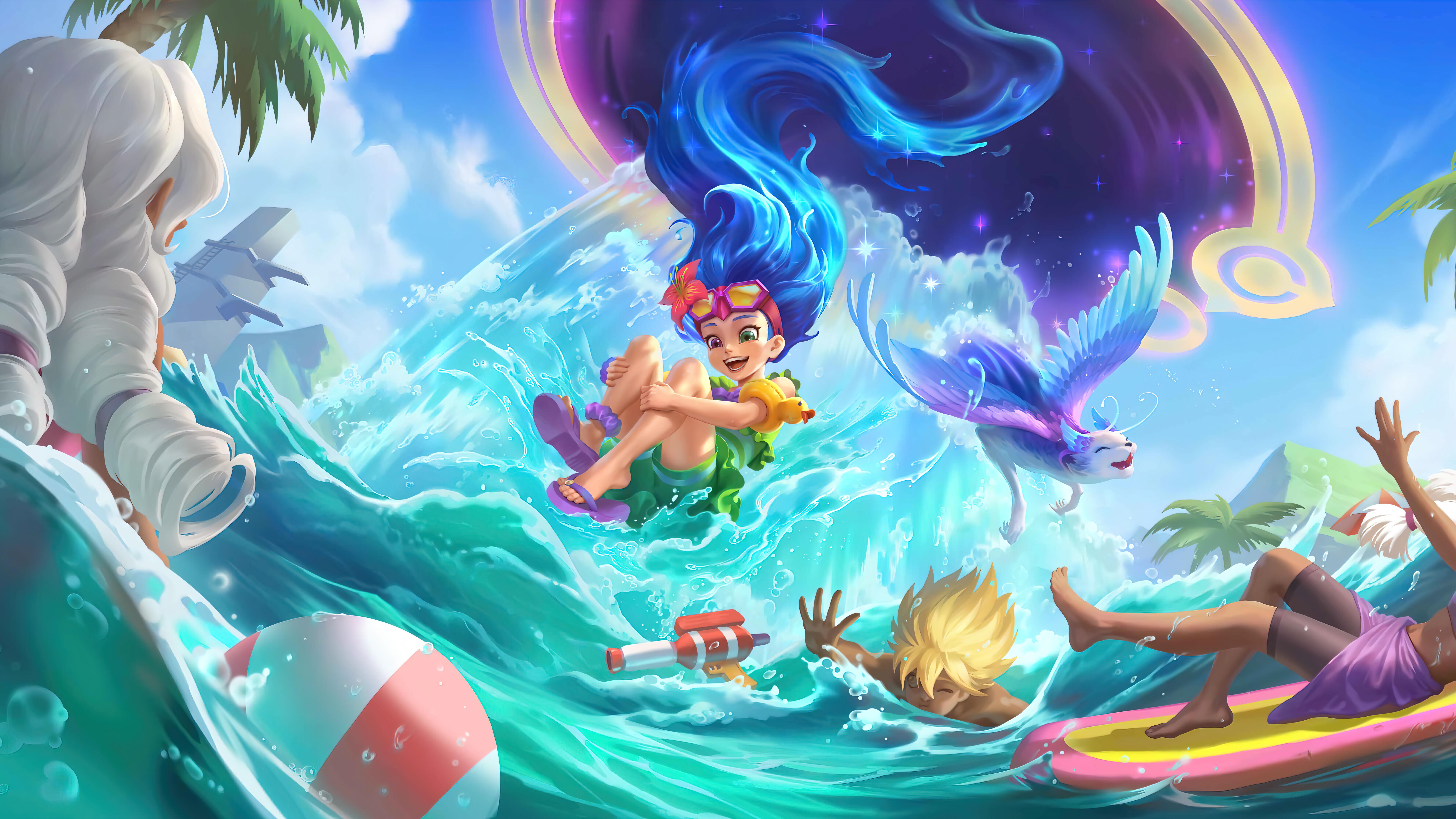 Wallpaper Pool Part Zoe League of Legends