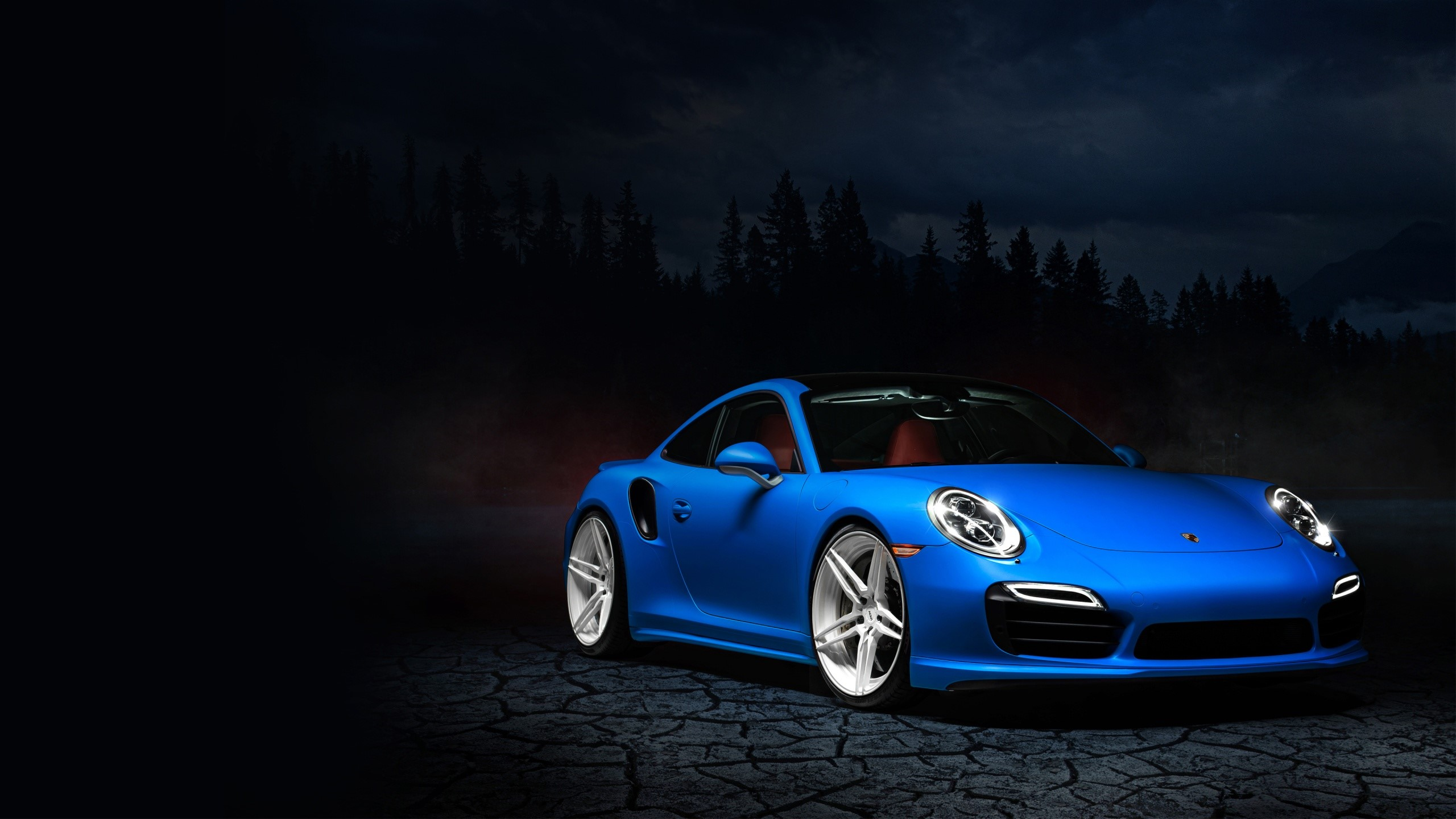 Wallpaper Porsche 991 blue