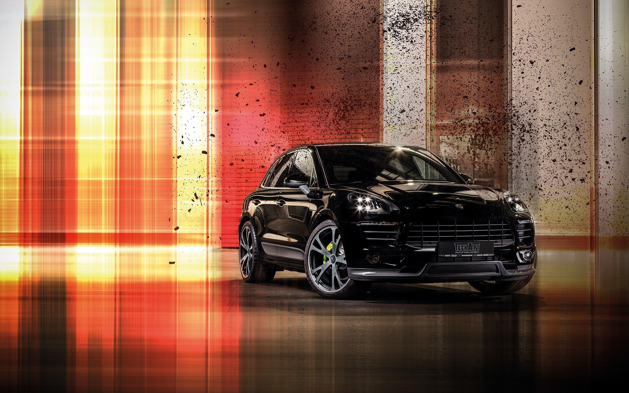 Wallpaper Porsche Macan black