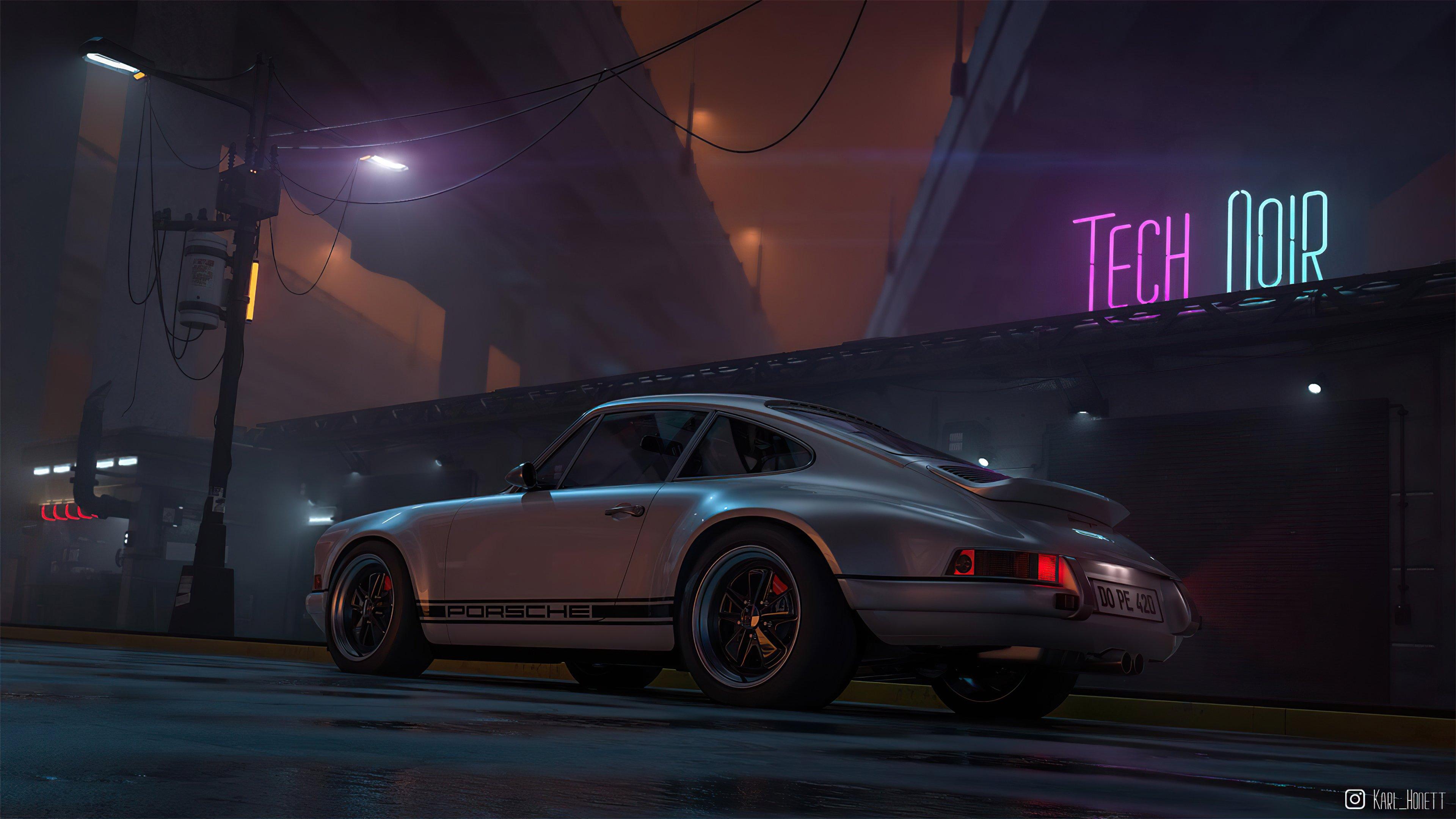 Wallpaper Porsche Outrun