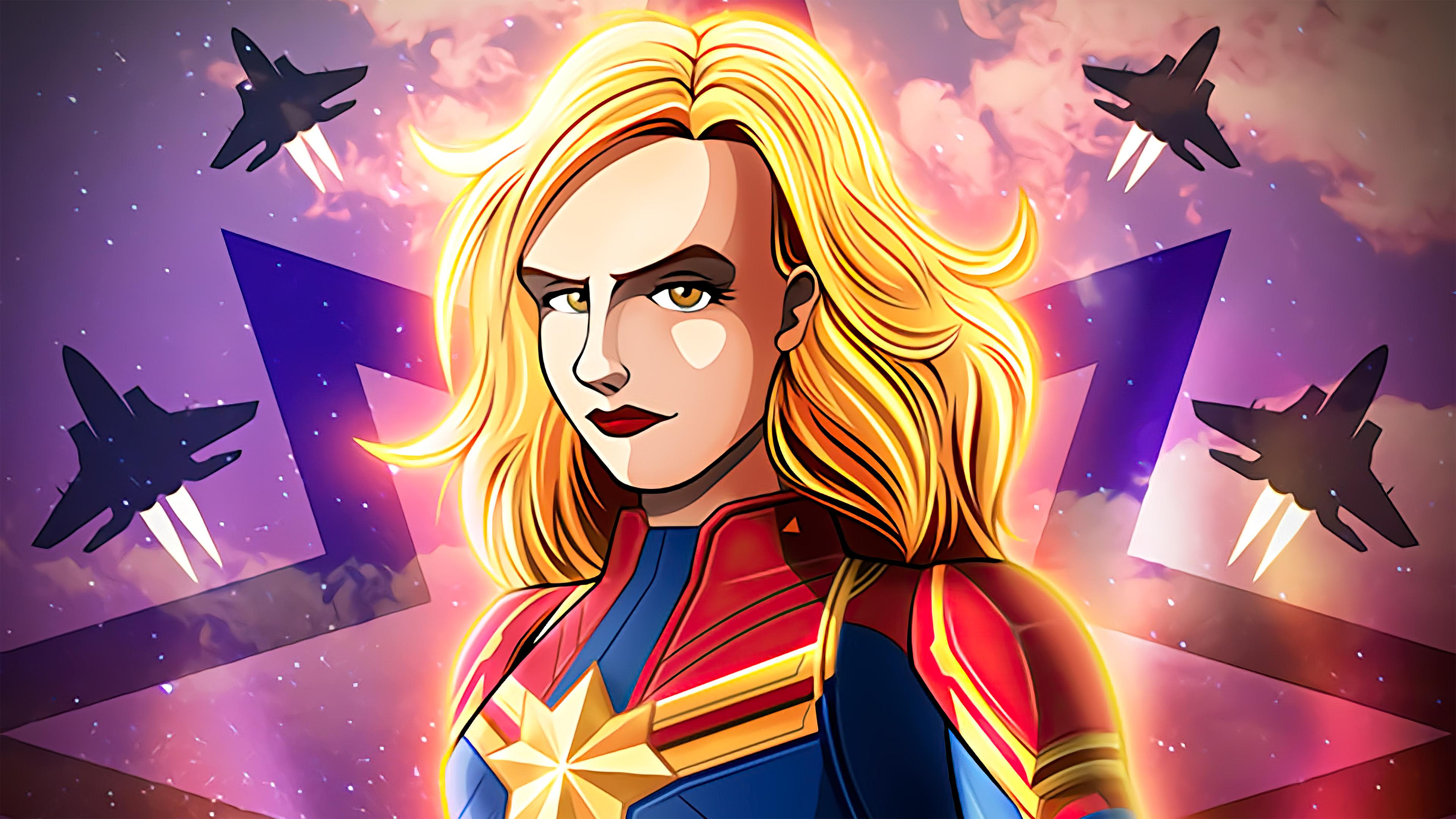Wallpaper Captain Marvel Comic Poster