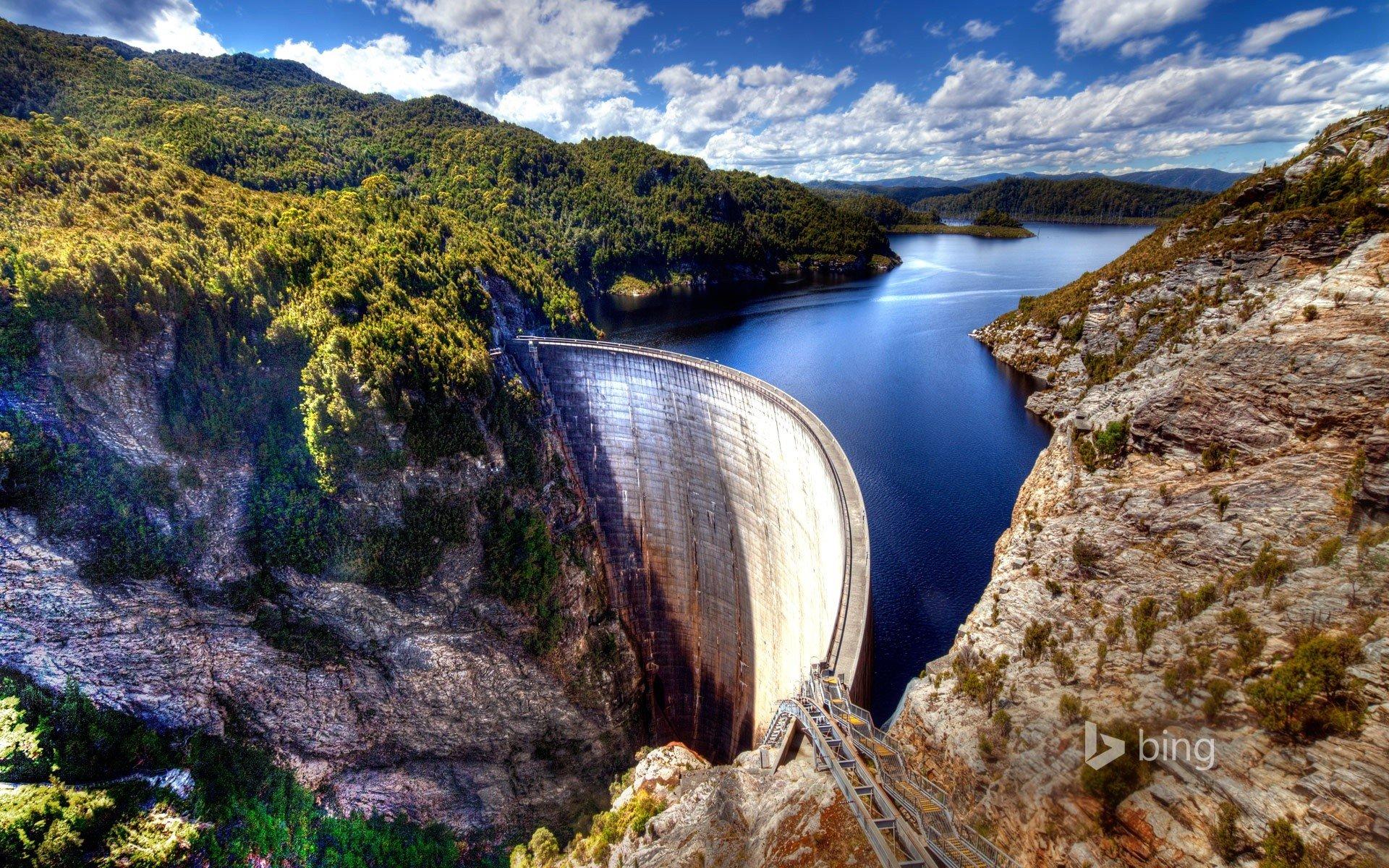 Fondos de pantalla Presa Gordon en Tasmania Australia