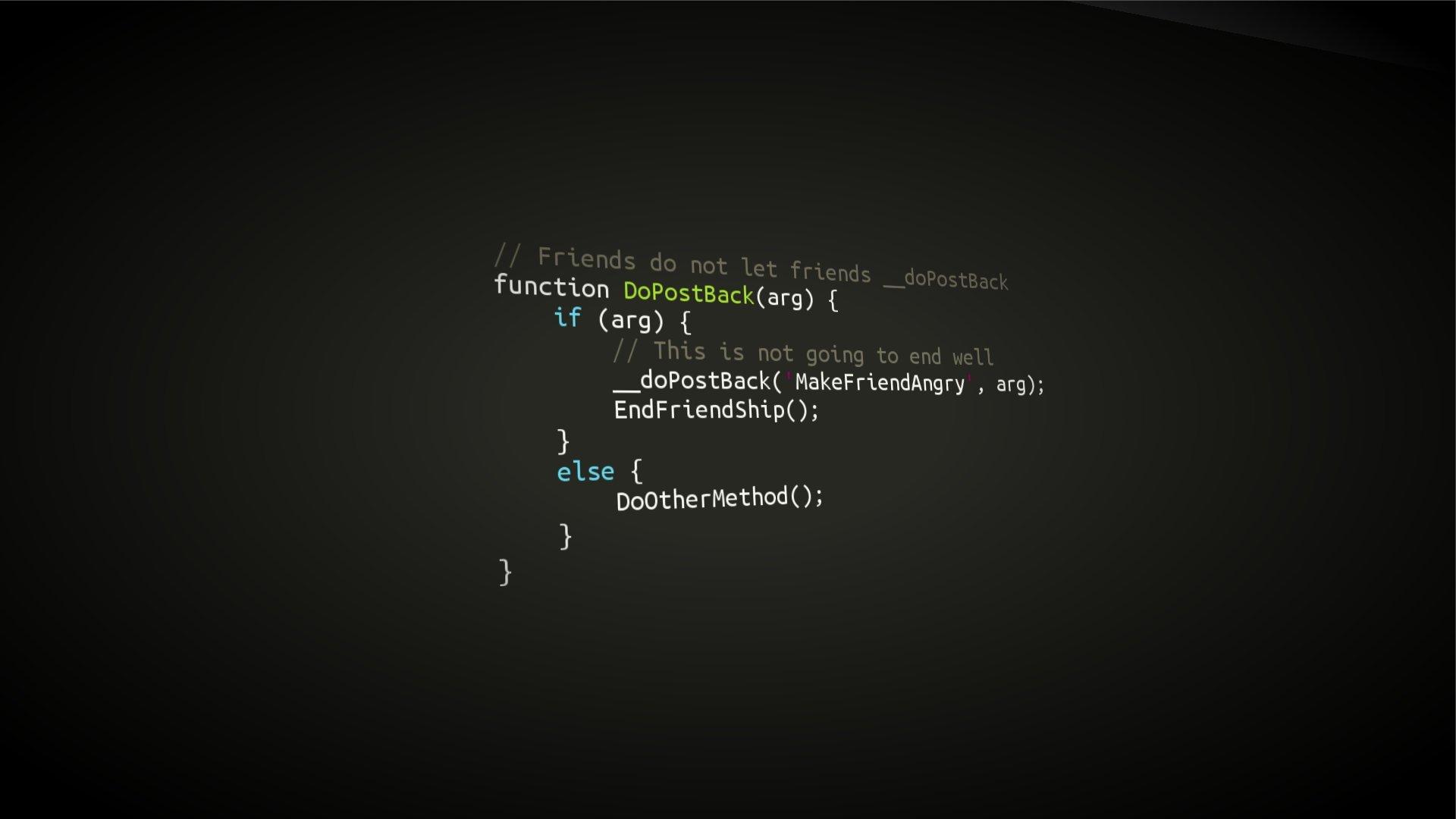 Fondos de pantalla Programación Sintaxis