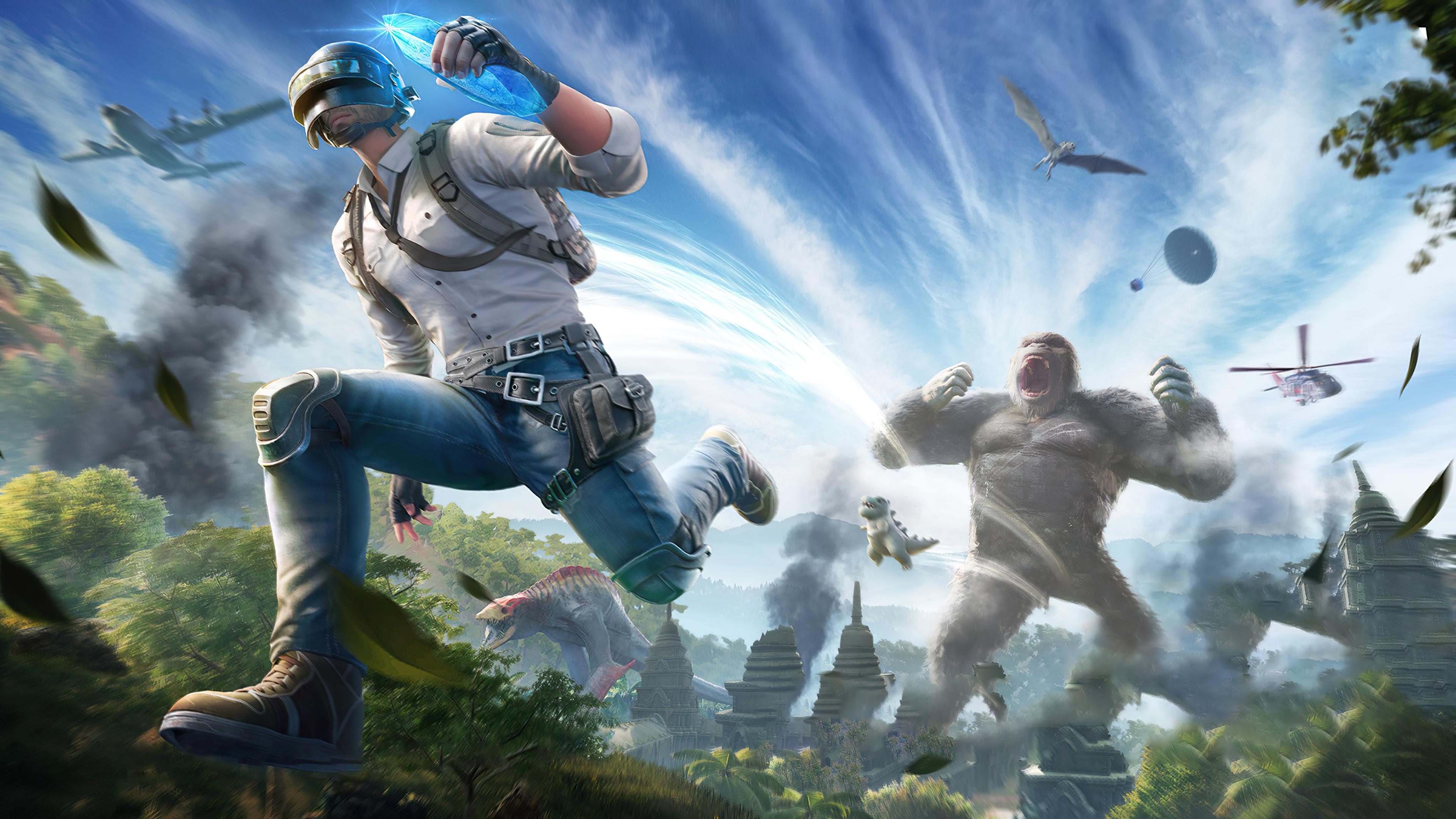Wallpaper PUBG X Godzilla vs Kong