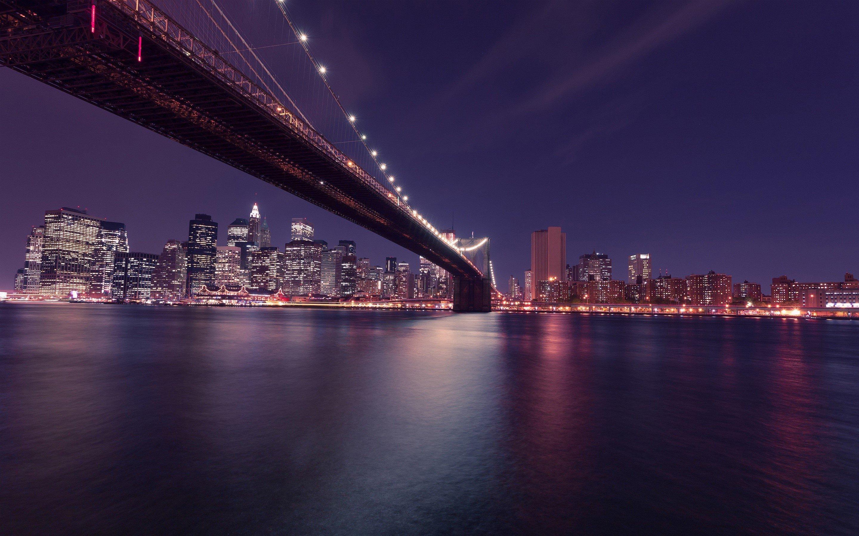 Fondos de pantalla Puente de Brooklyn a Manhattan en Nueva York