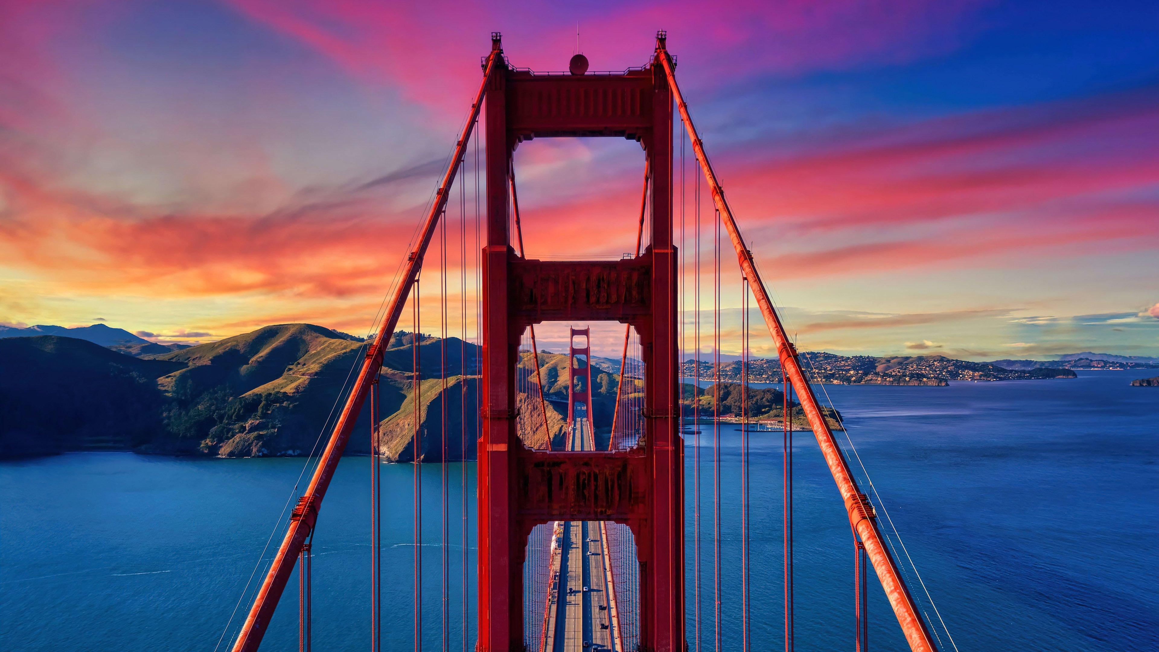 Wallpaper Golden Gate Bridge at sunset