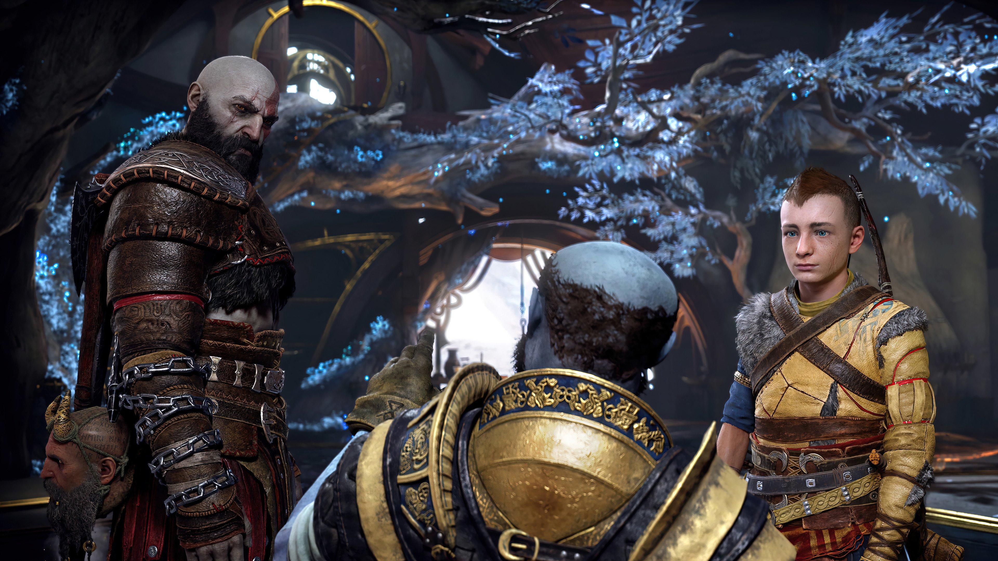 Fondos de pantalla Ragnarok Kratos y Atreus God of War