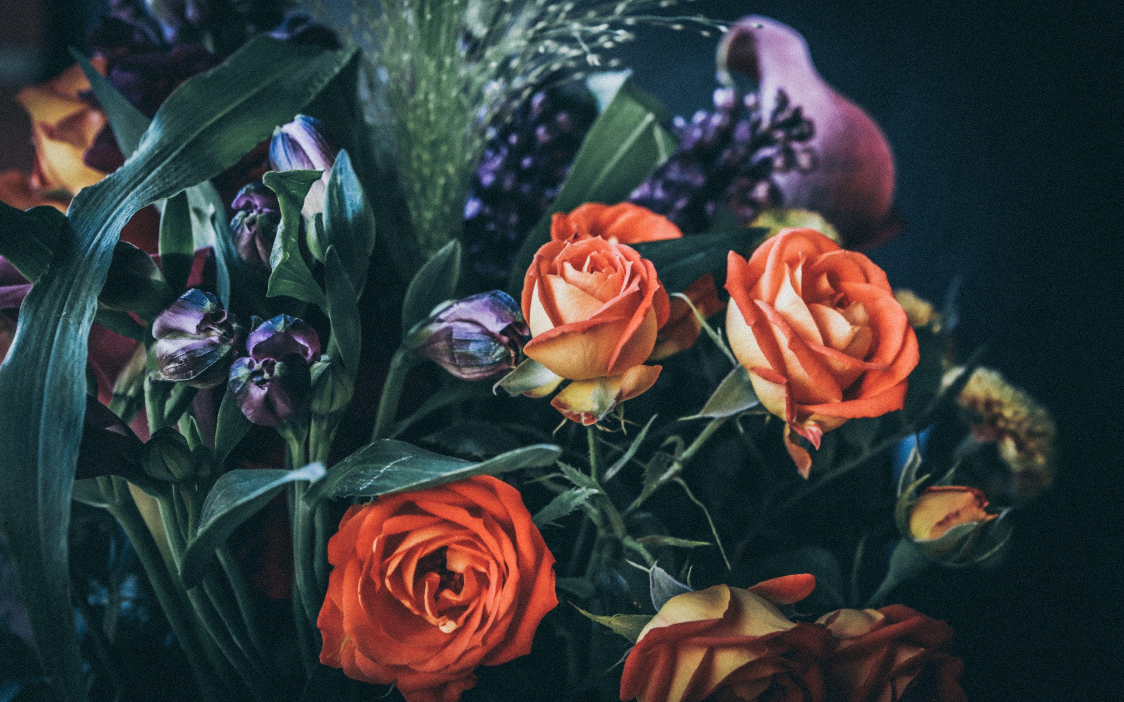 Fondos de pantalla Ramo de rosas