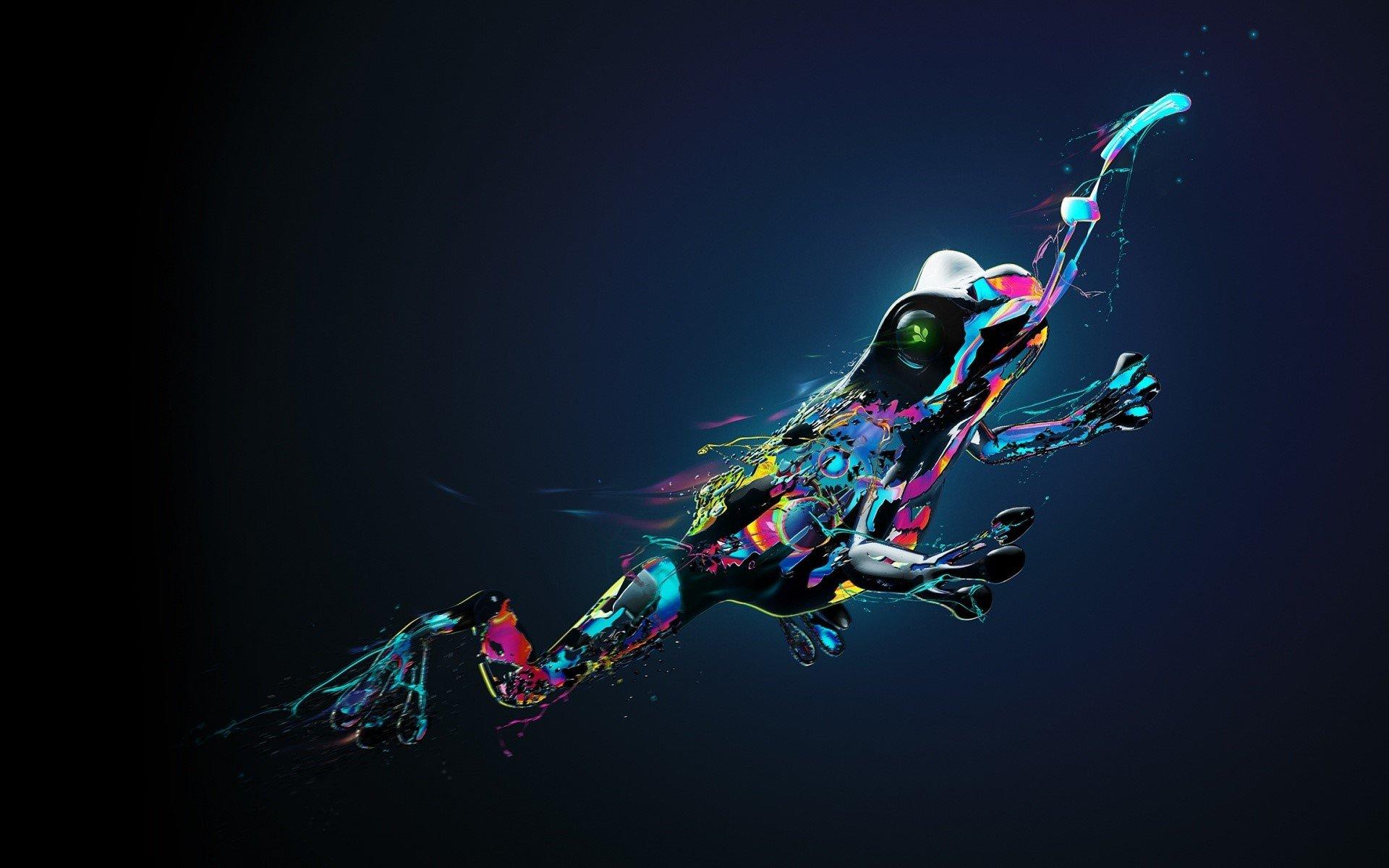 Fondos de pantalla Rana hecha de colores