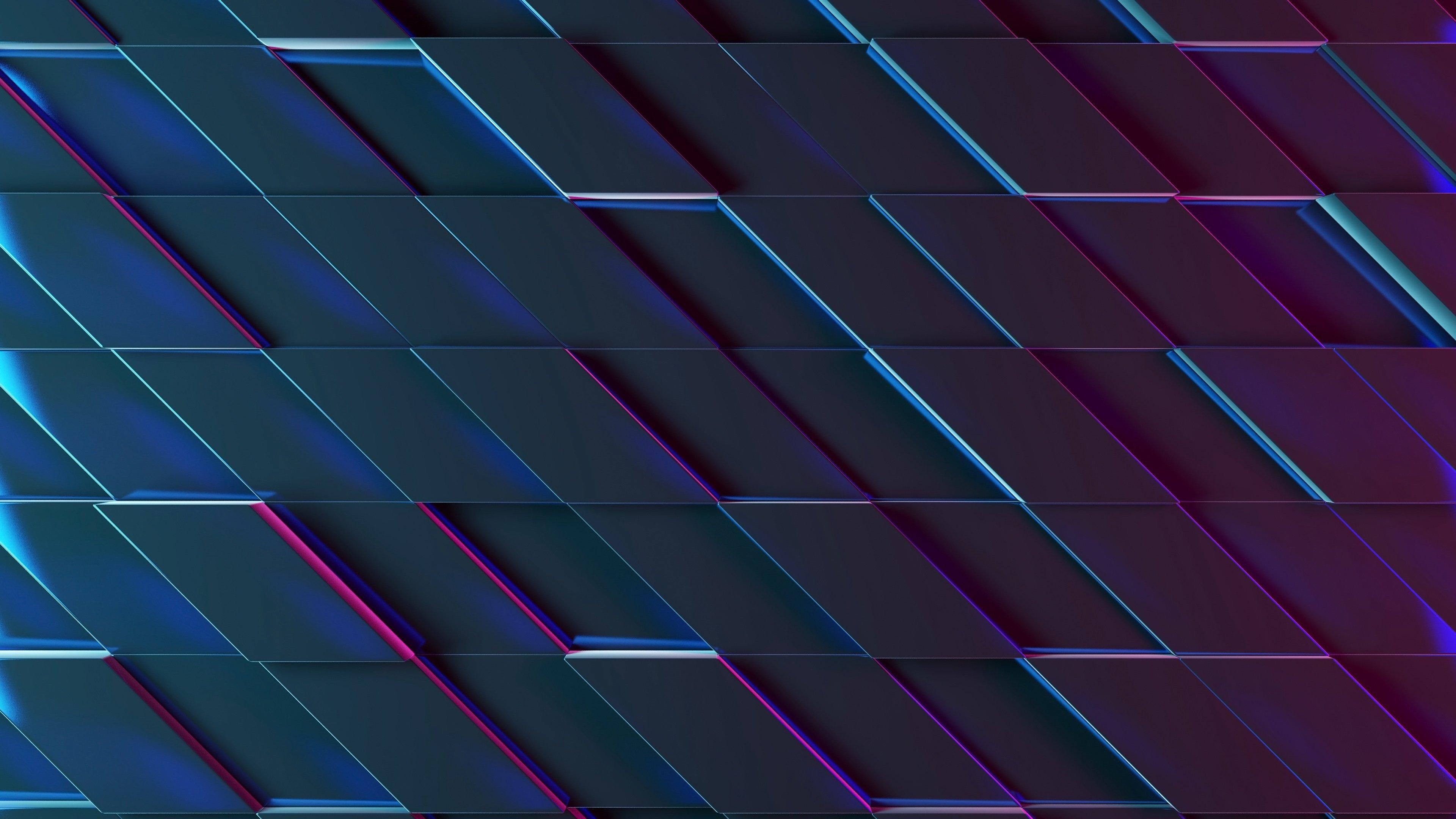 Fondos de pantalla Rectángulos iluminación neón 3D