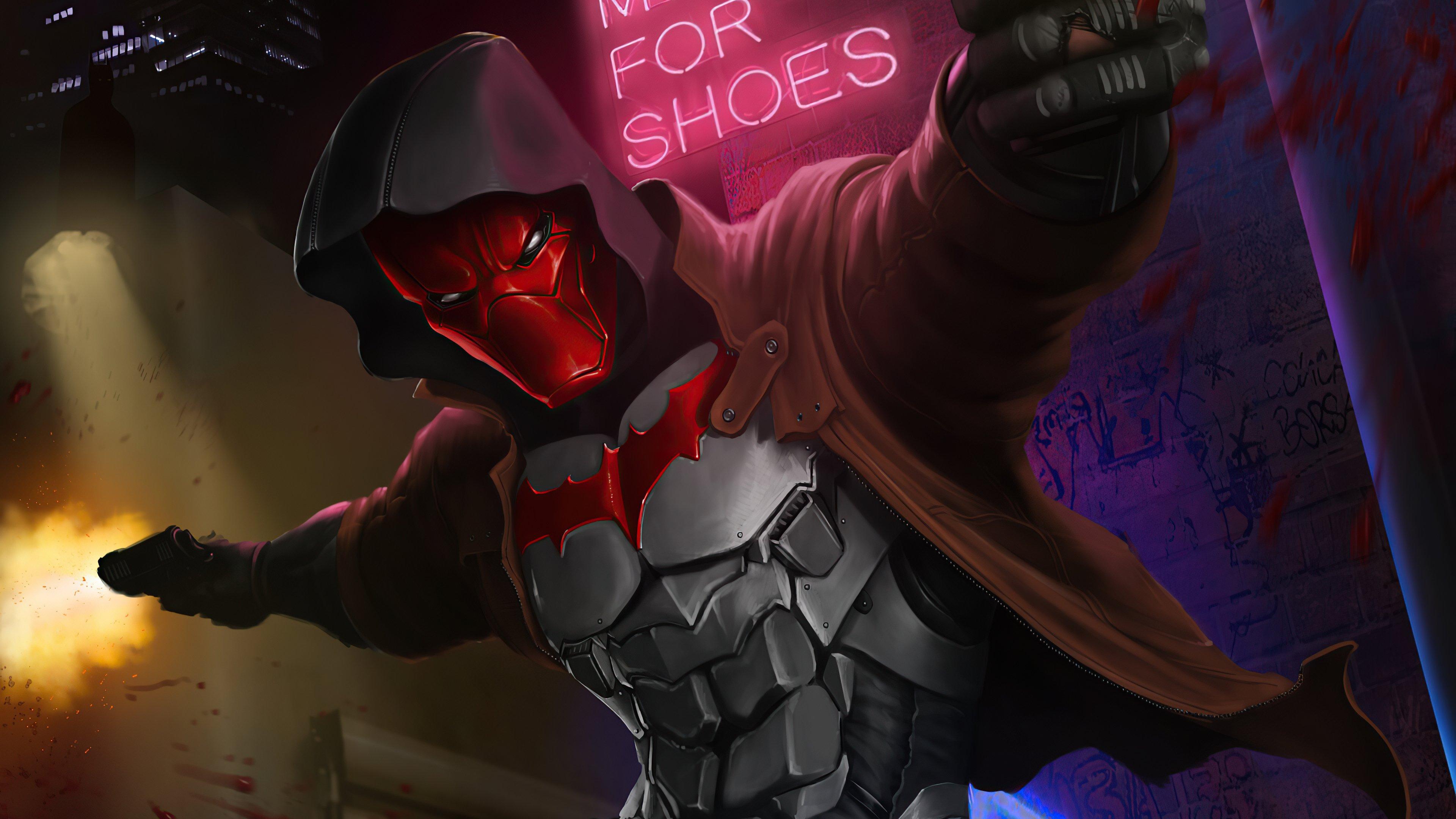 Wallpaper Red Hood with guns