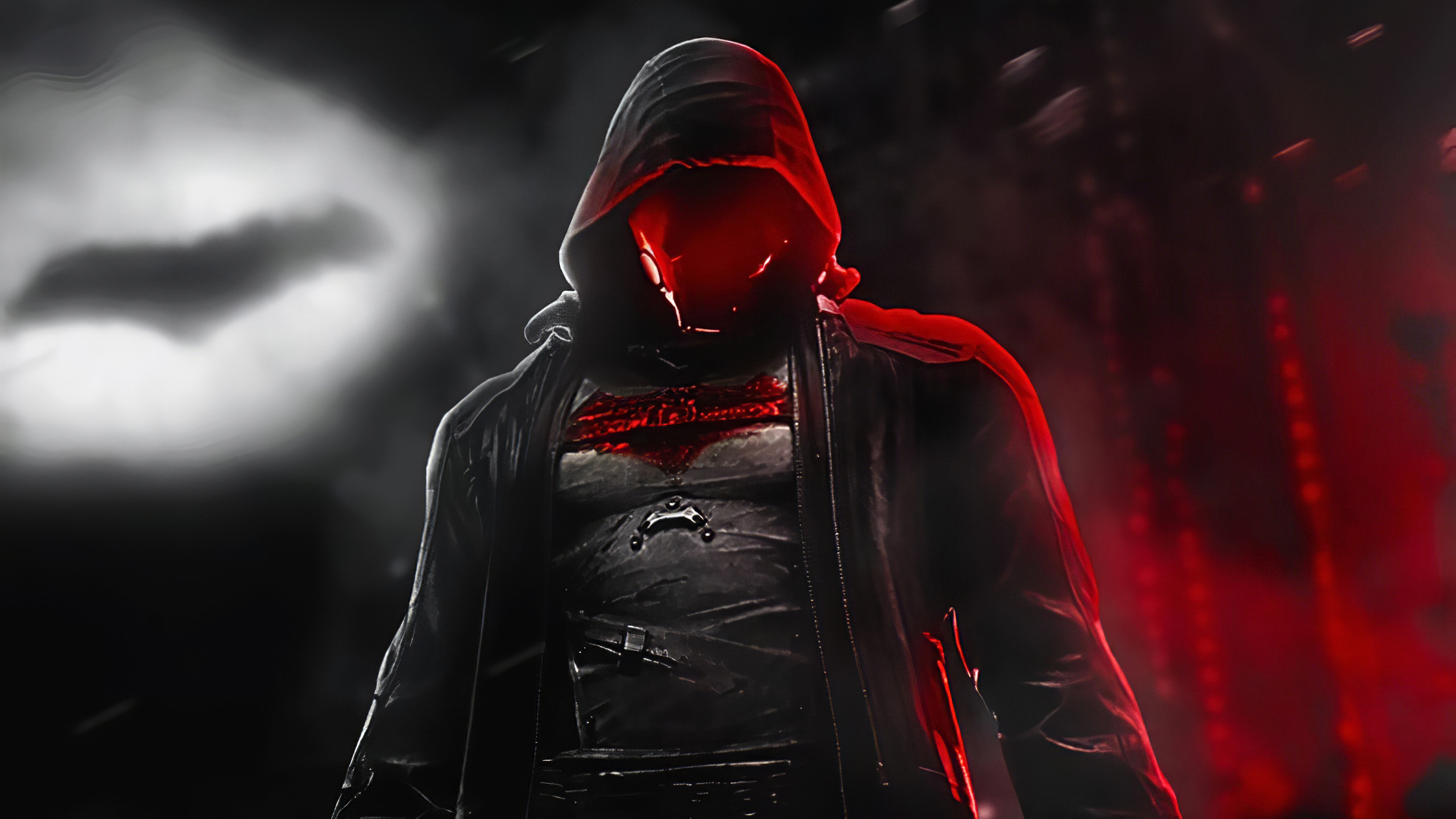 Wallpaper Red Hood in the night