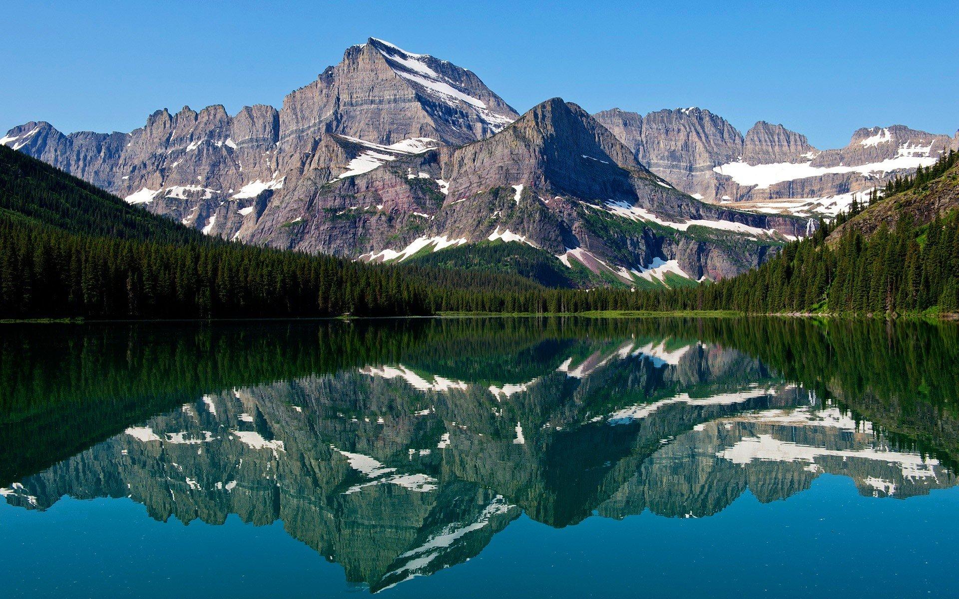 Fondo de pantalla de Reflejos de montañas Imágenes