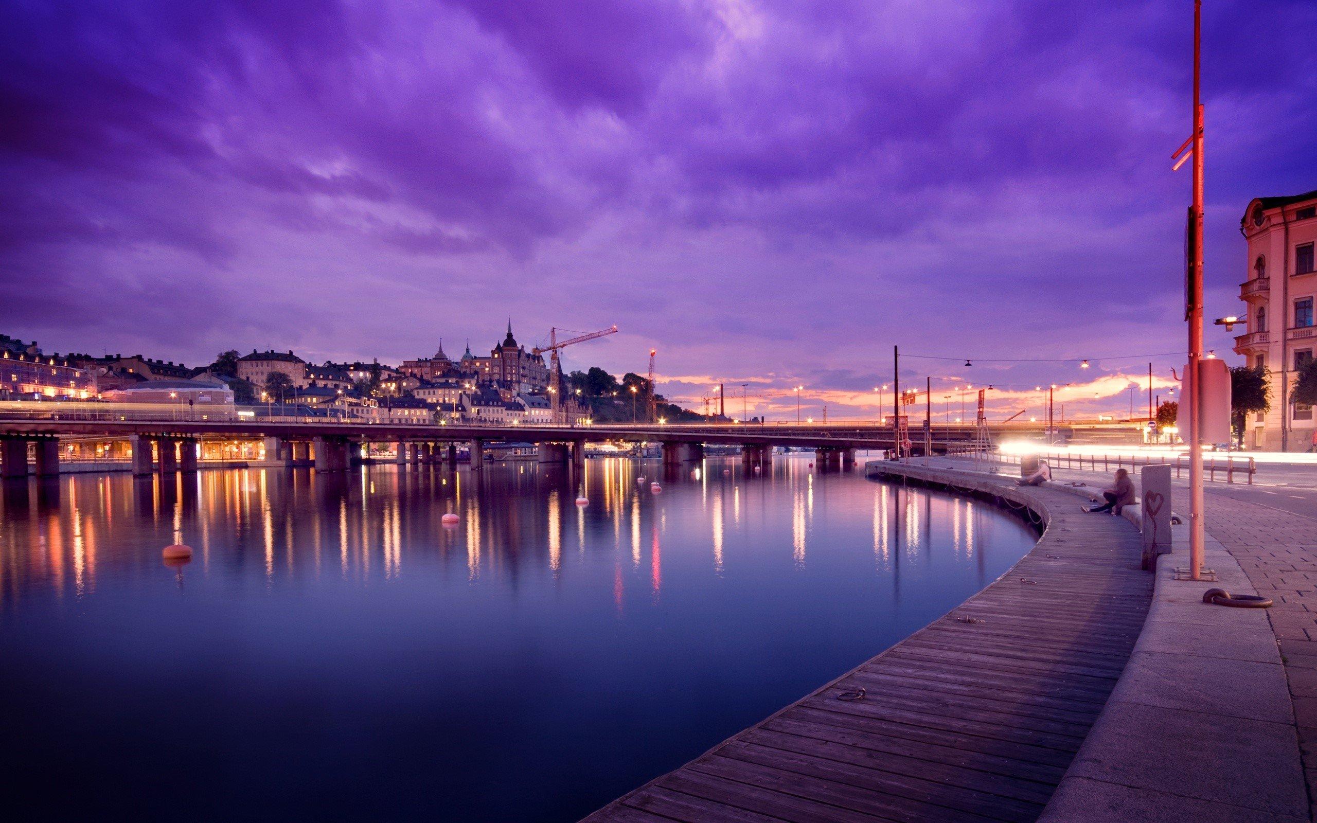 Fondo de pantalla de Reflejos en Stockholm Suecia Imágenes