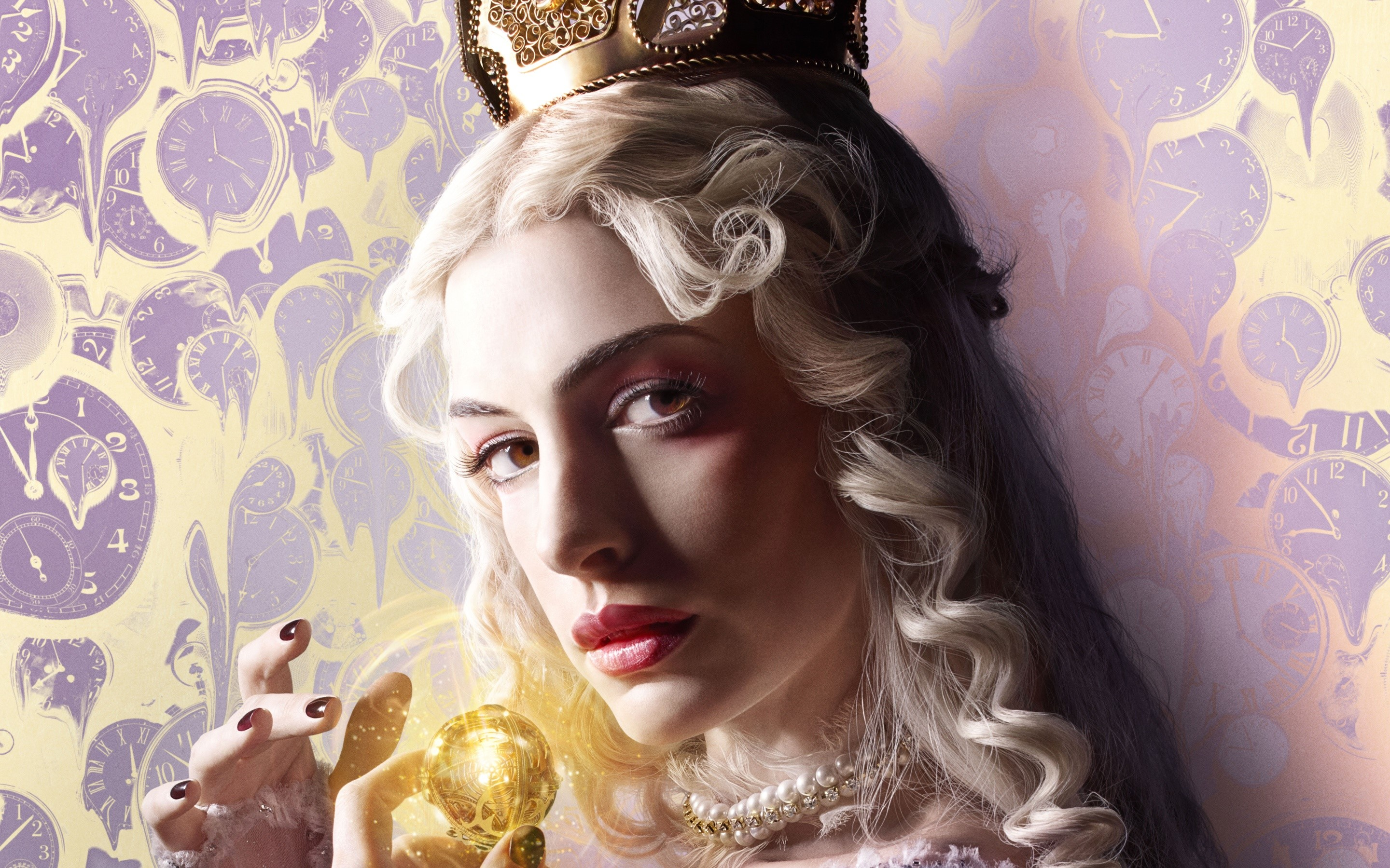 Wallpaper White Queen of Alice Through the Looking Glass