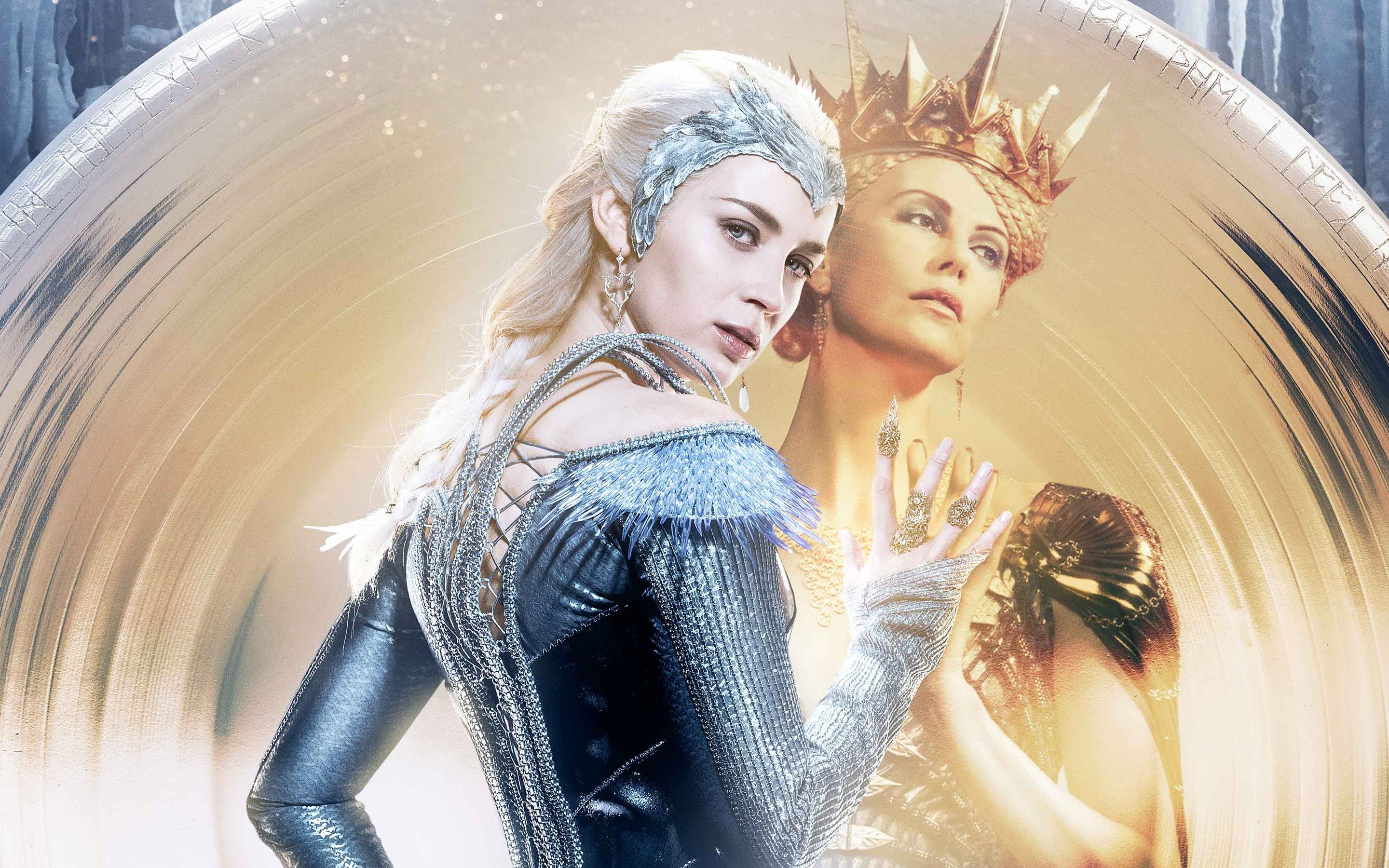 Wallpaper Ice queen in The hunter and the ice queen