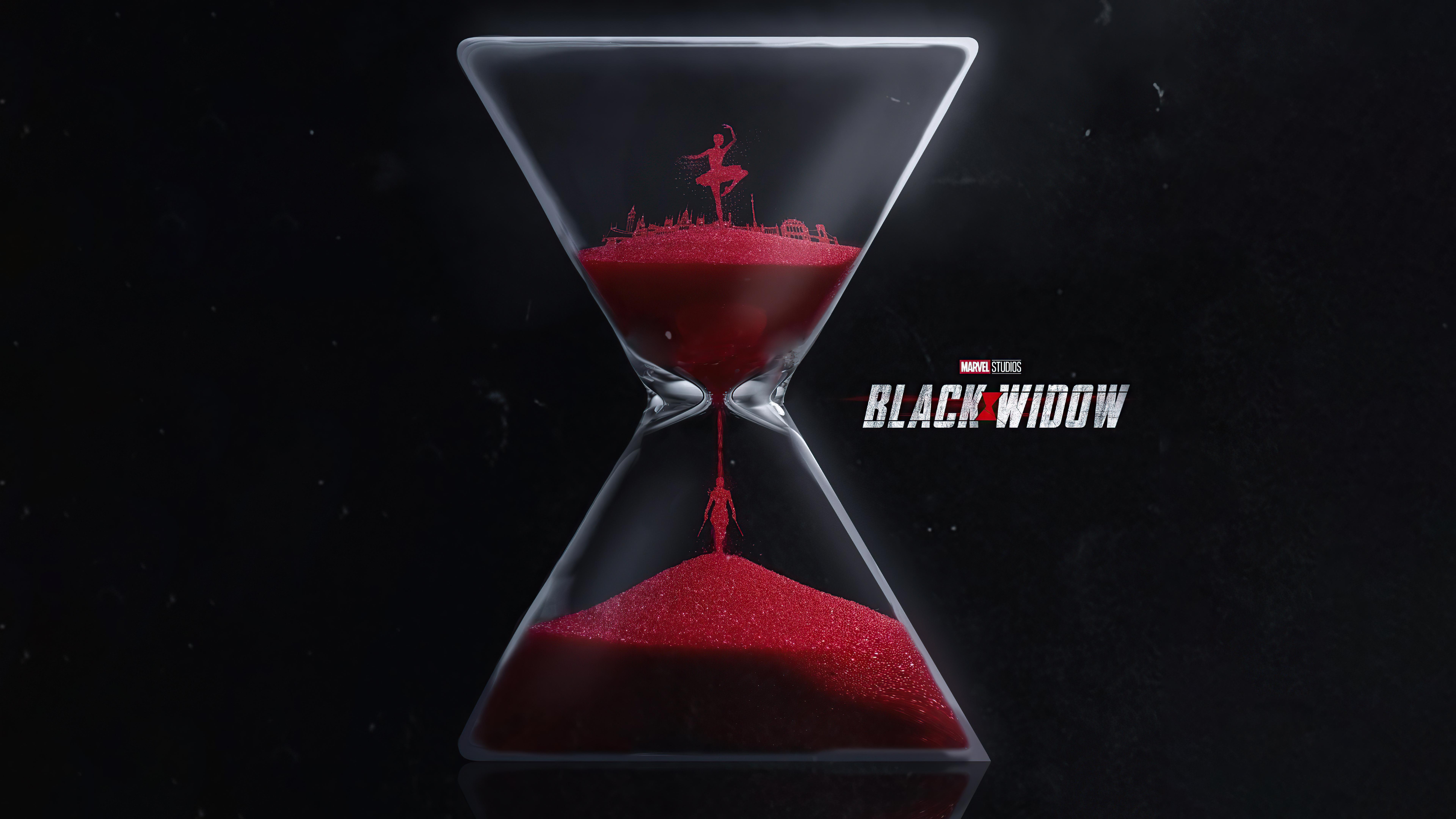 Wallpaper Hourglass Black Widow