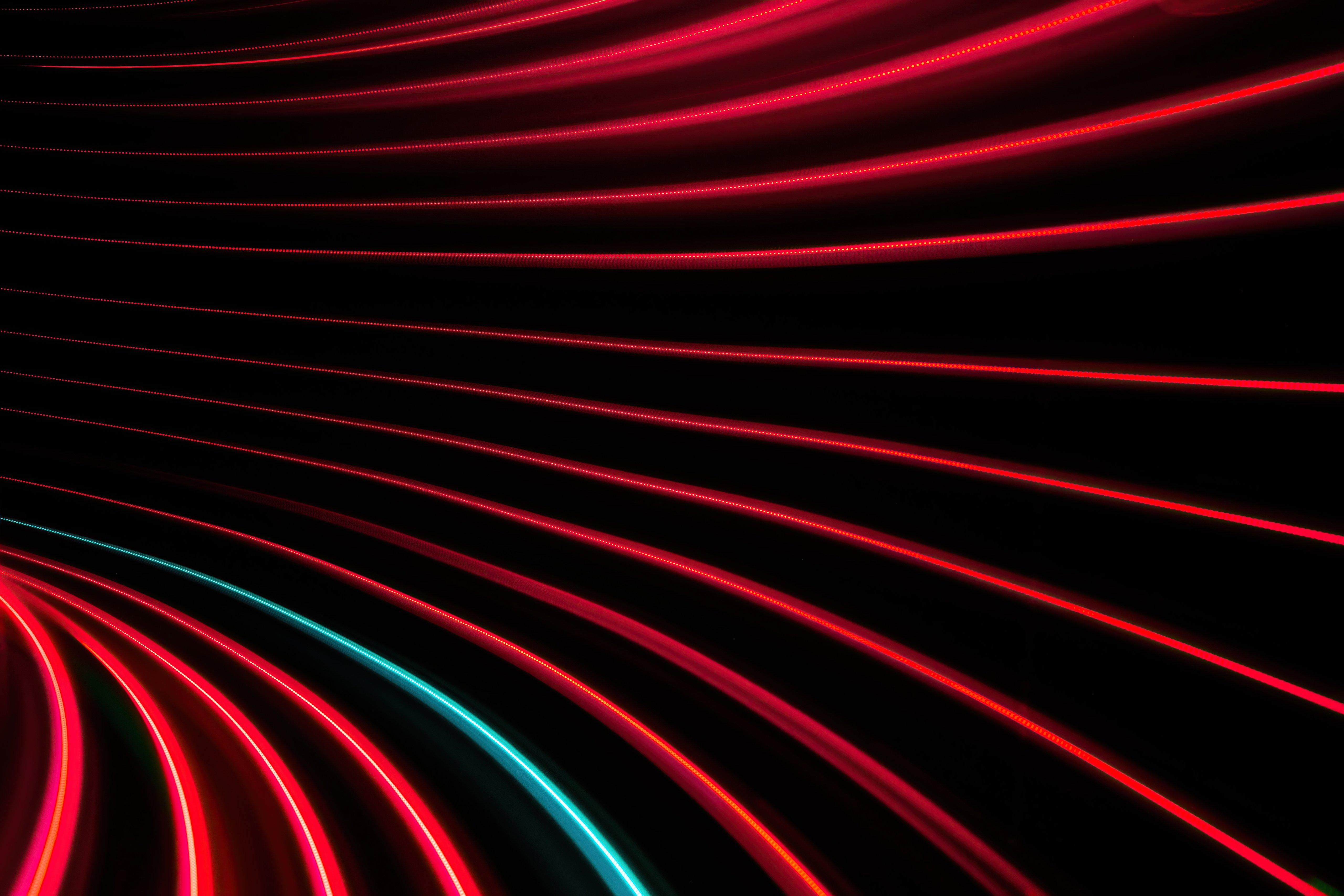 Fondos de pantalla Remolino de lineas rojas y negras