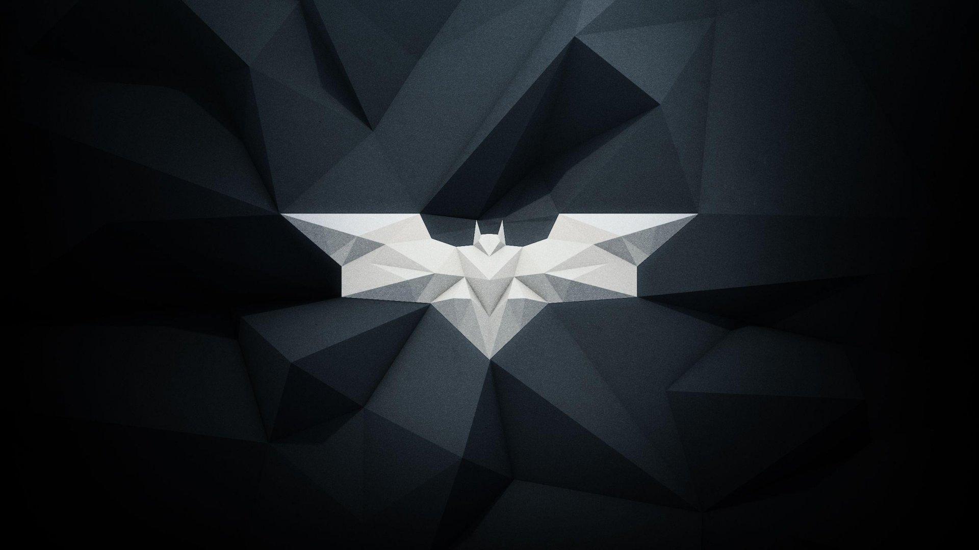 Batman Logo Poligonal Fondo De Pantalla 2k Quad Hd Id2921