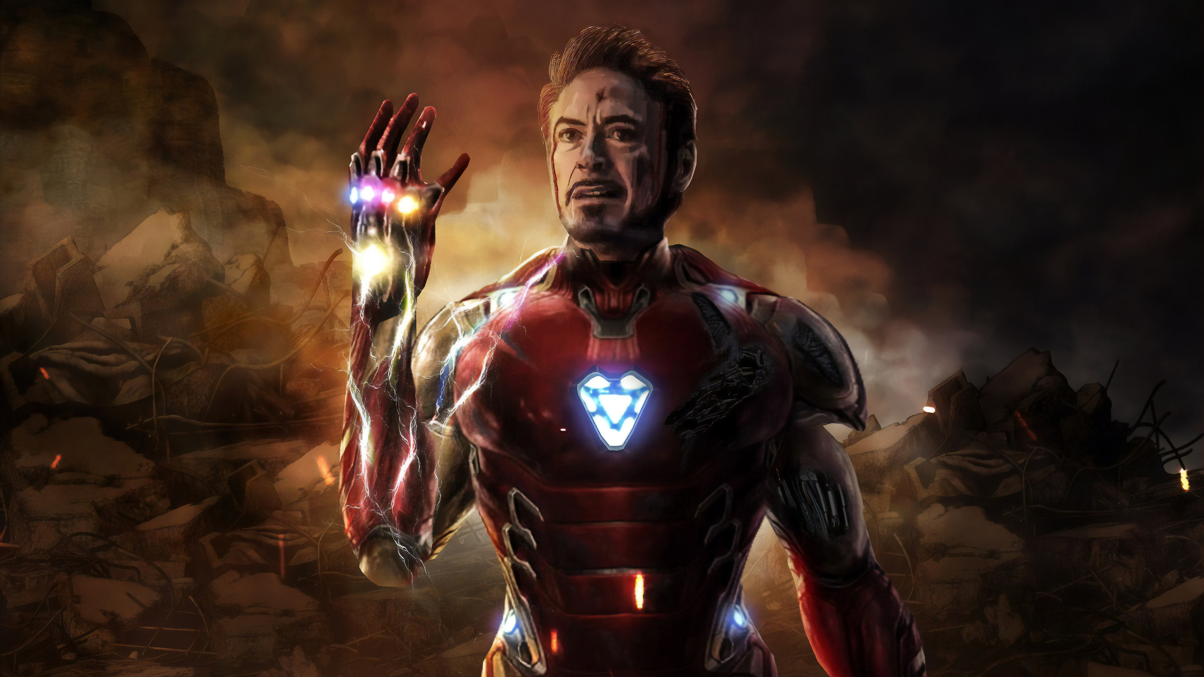 Avengers Endgame Iron Man Tony Stark Infinity Stones Wallpaper 8k Ultra Hd Id 3188