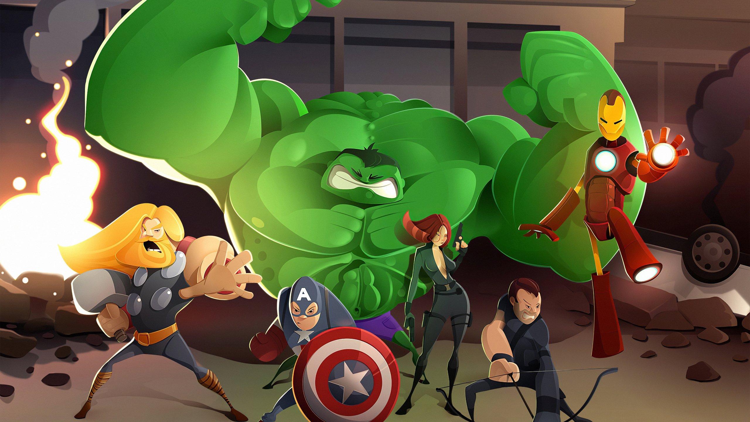 Cartoon Of The Avengers Wallpaper 4k Ultra Hd Id 4525