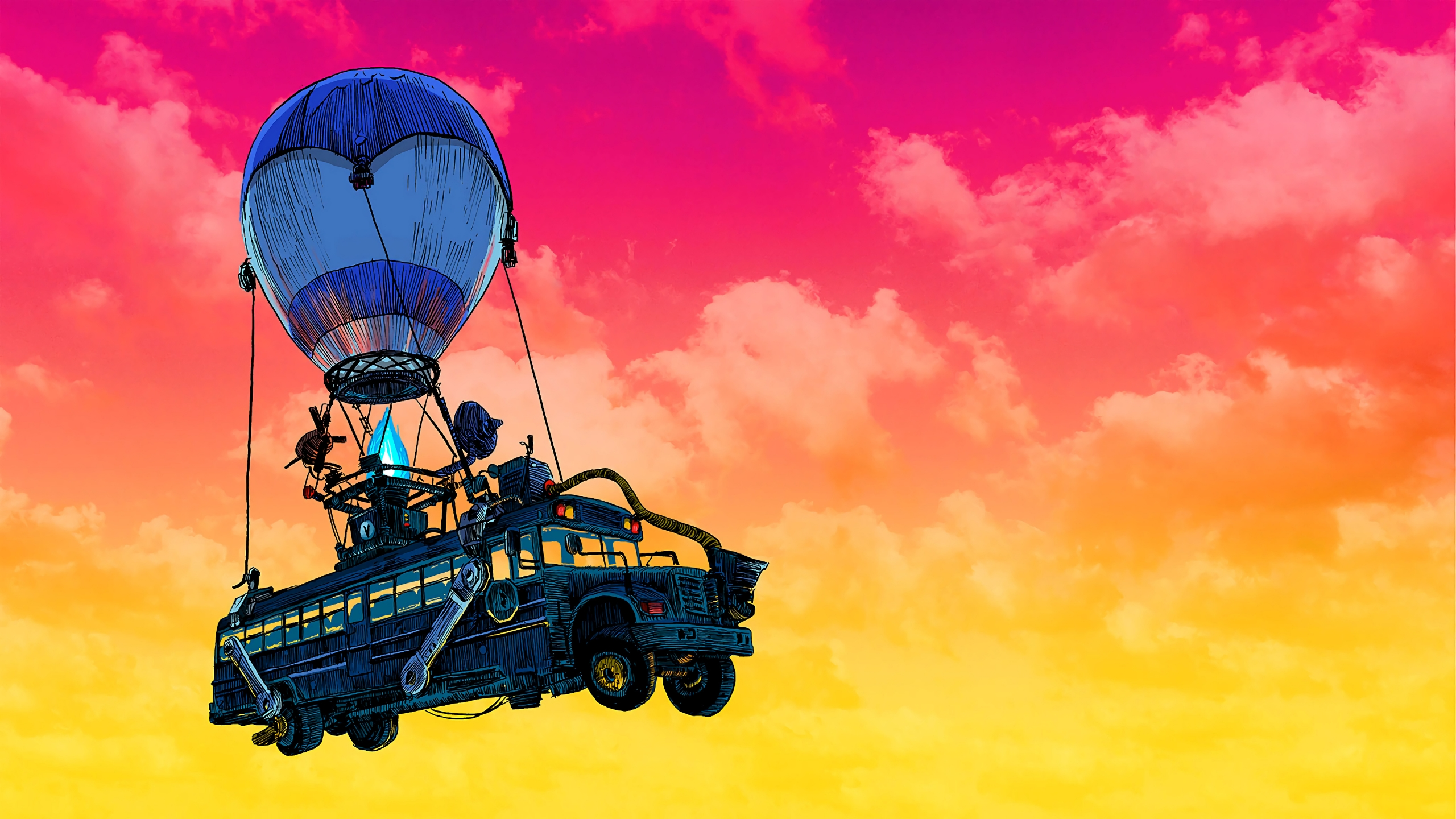 Fortnite Battle Bus Wallpaper 4k Ultra Hd Id 3760