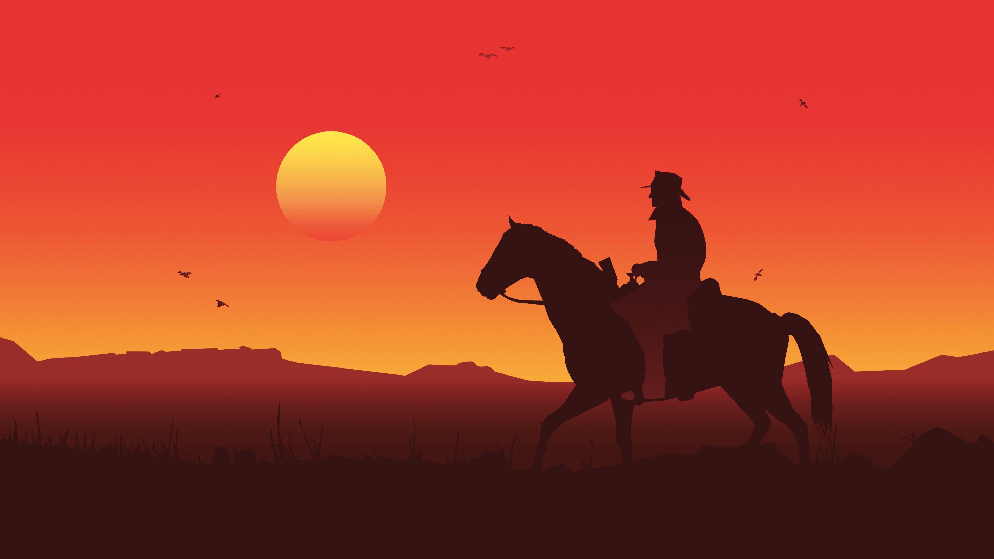 Wallpaper Red Dead Redemption 2 Arthur Morgan Outlaws