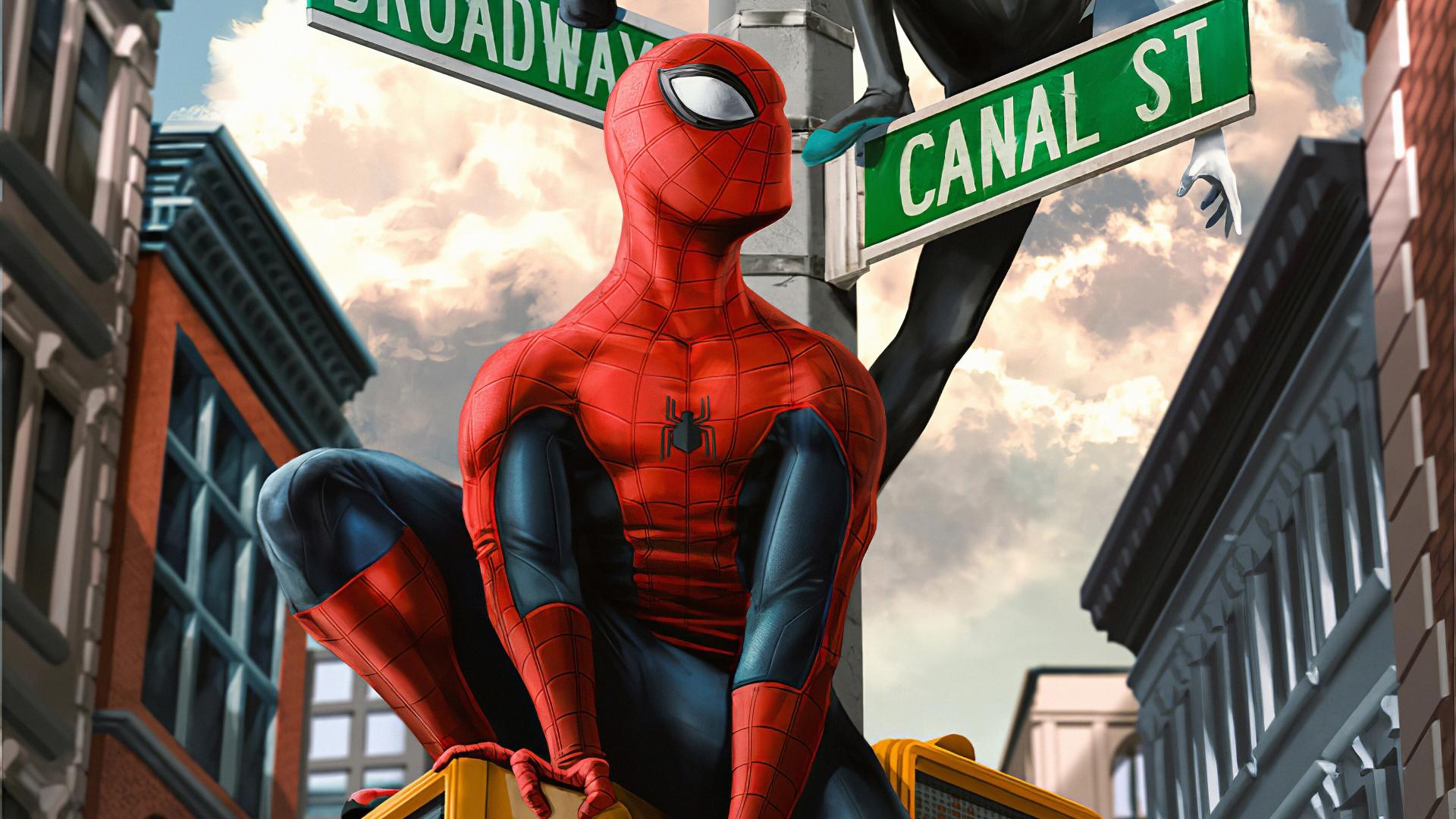 Spiderman In New York Wallpaper 4k Ultra Hd Id4391