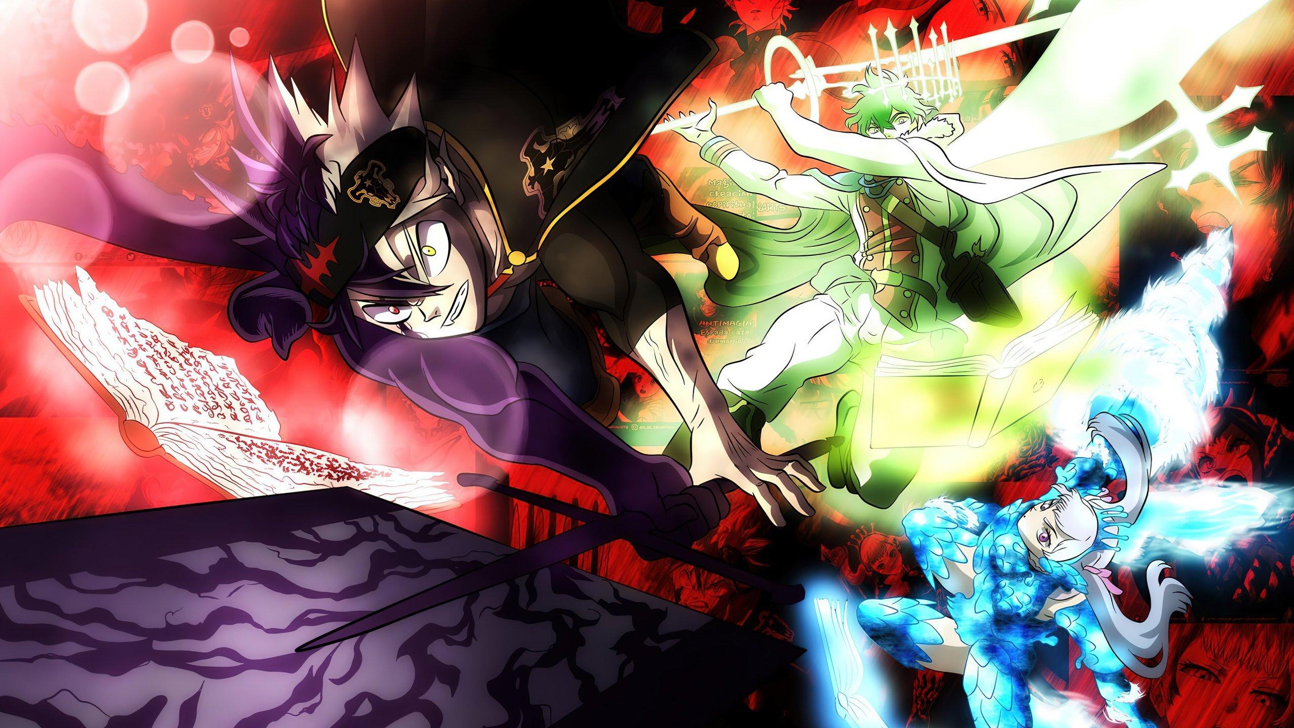 Asta Yuno Noelle Black Clover Anime Fondo de pantalla 4k ...