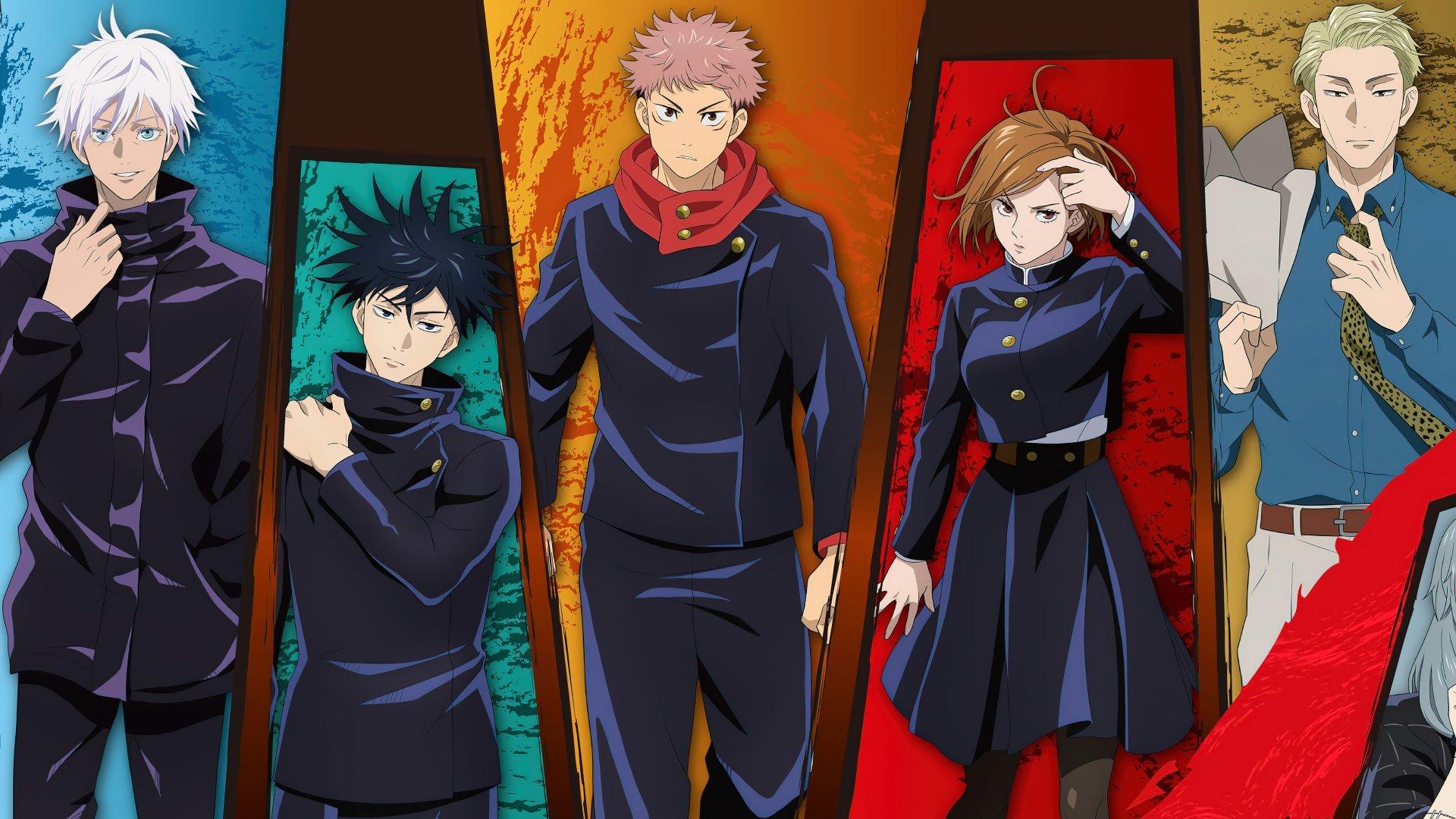 Personajes de Jujutsu Kaisen Anime Fondo de pantalla 4k ...