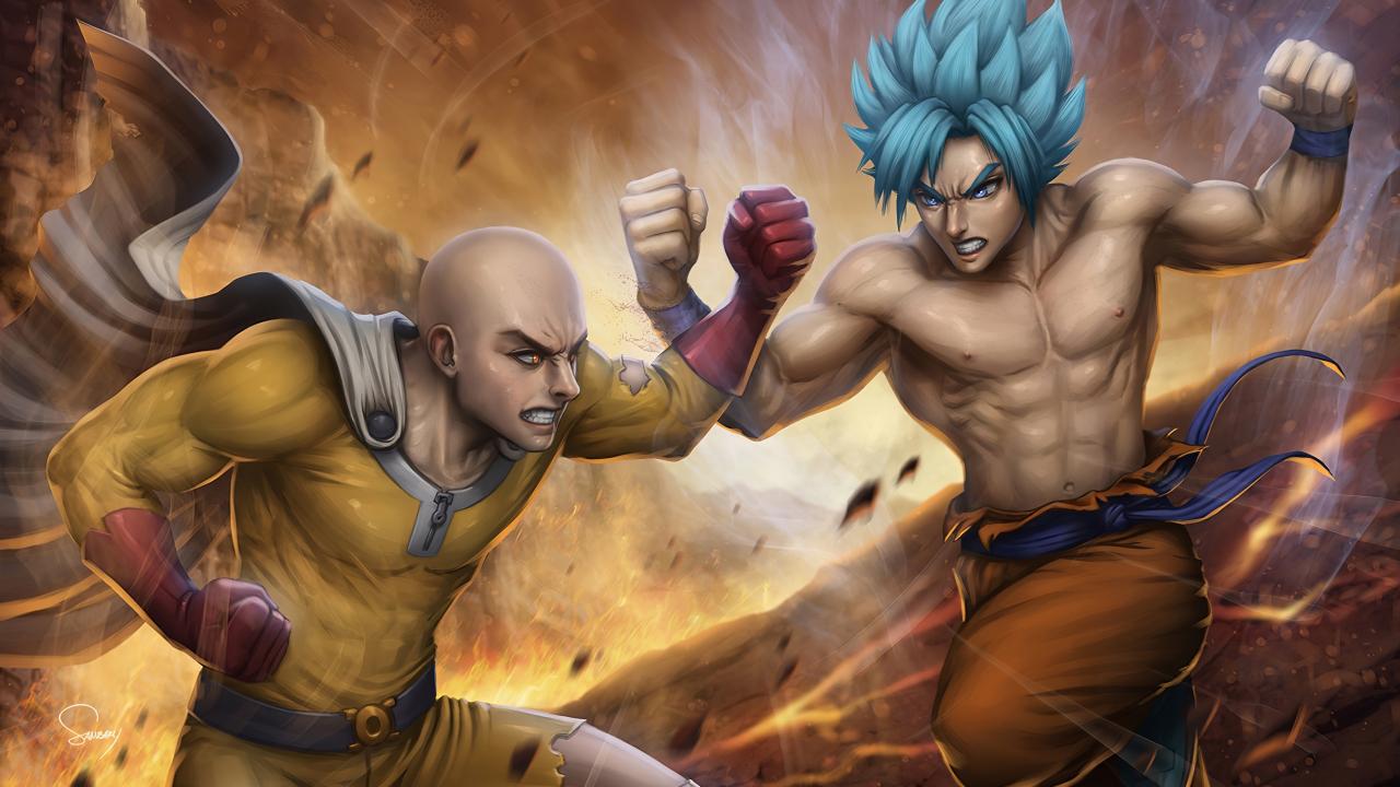 Saitama Wallpaper Hd 4K - Saitama contra Goku Anime Fondo de pantalla 4k Ultra HD ID ...