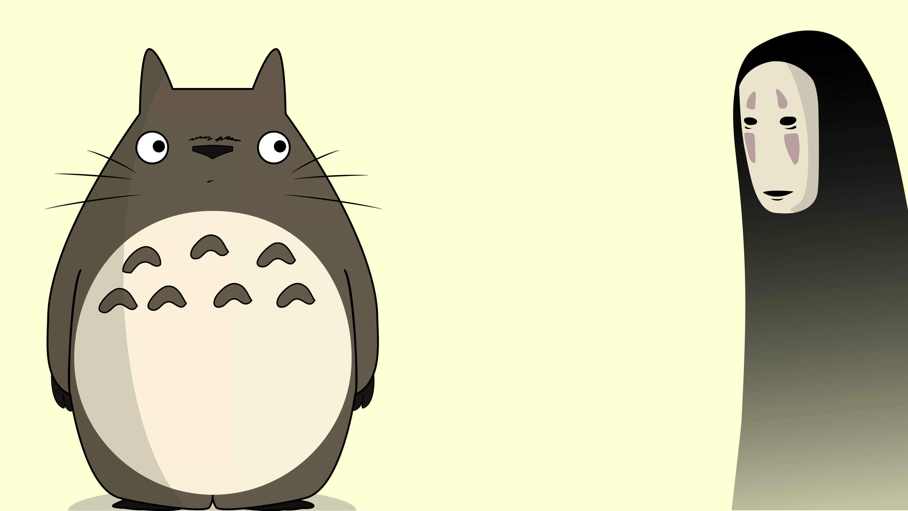 Totoro Y Kaonashi No Face From Spirited Away Anime Wallpaper Id 5035