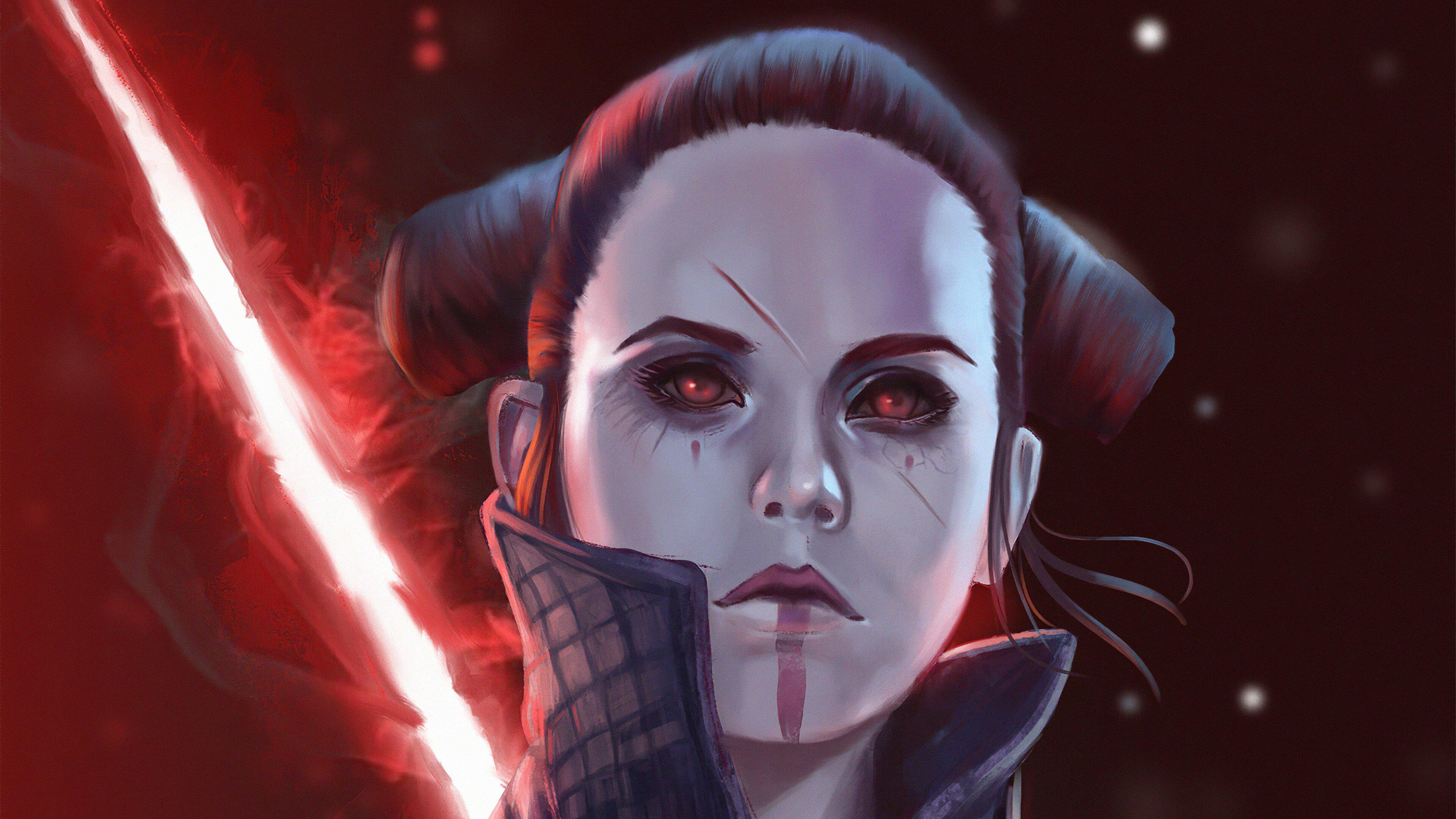 Rey From Star Wars In The Dark Side Wallpaper 4k Ultra Hd Id 4408