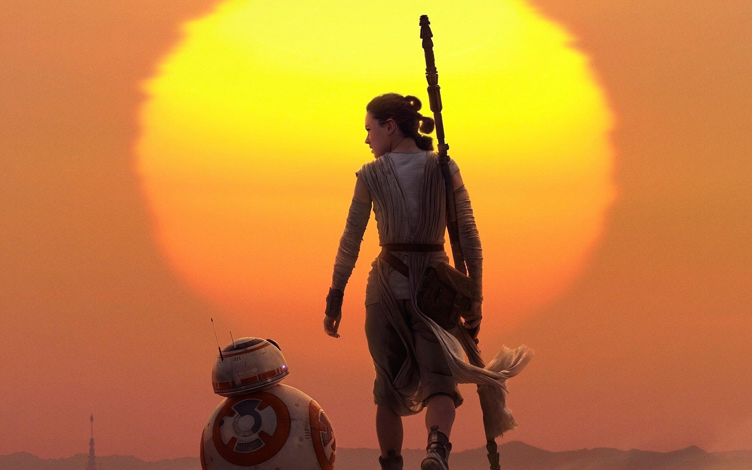 Fondo de pantalla de Rey y BB 8 en Star Wars Imágenes