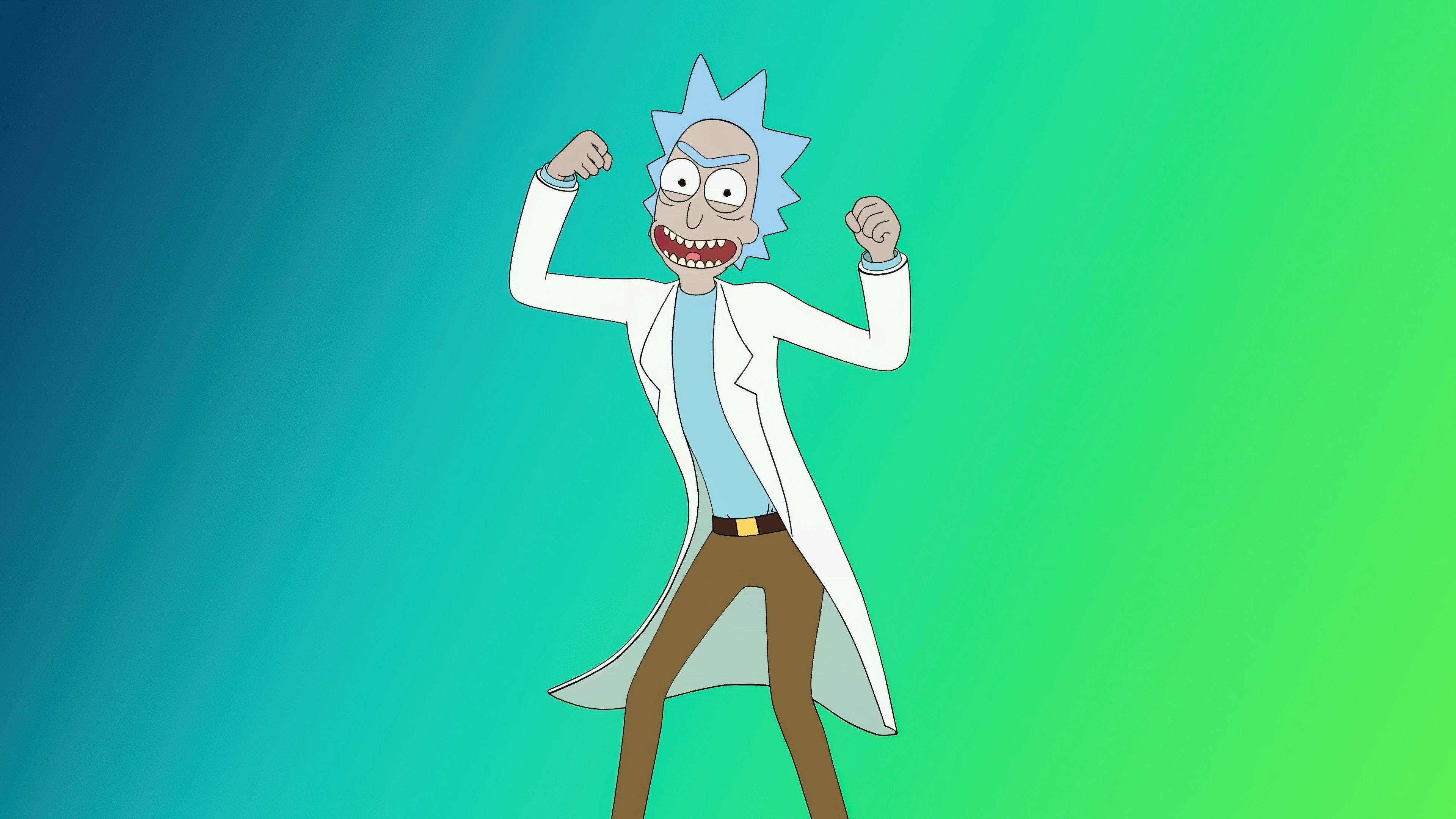Wallpaper Rick and Morty dancing