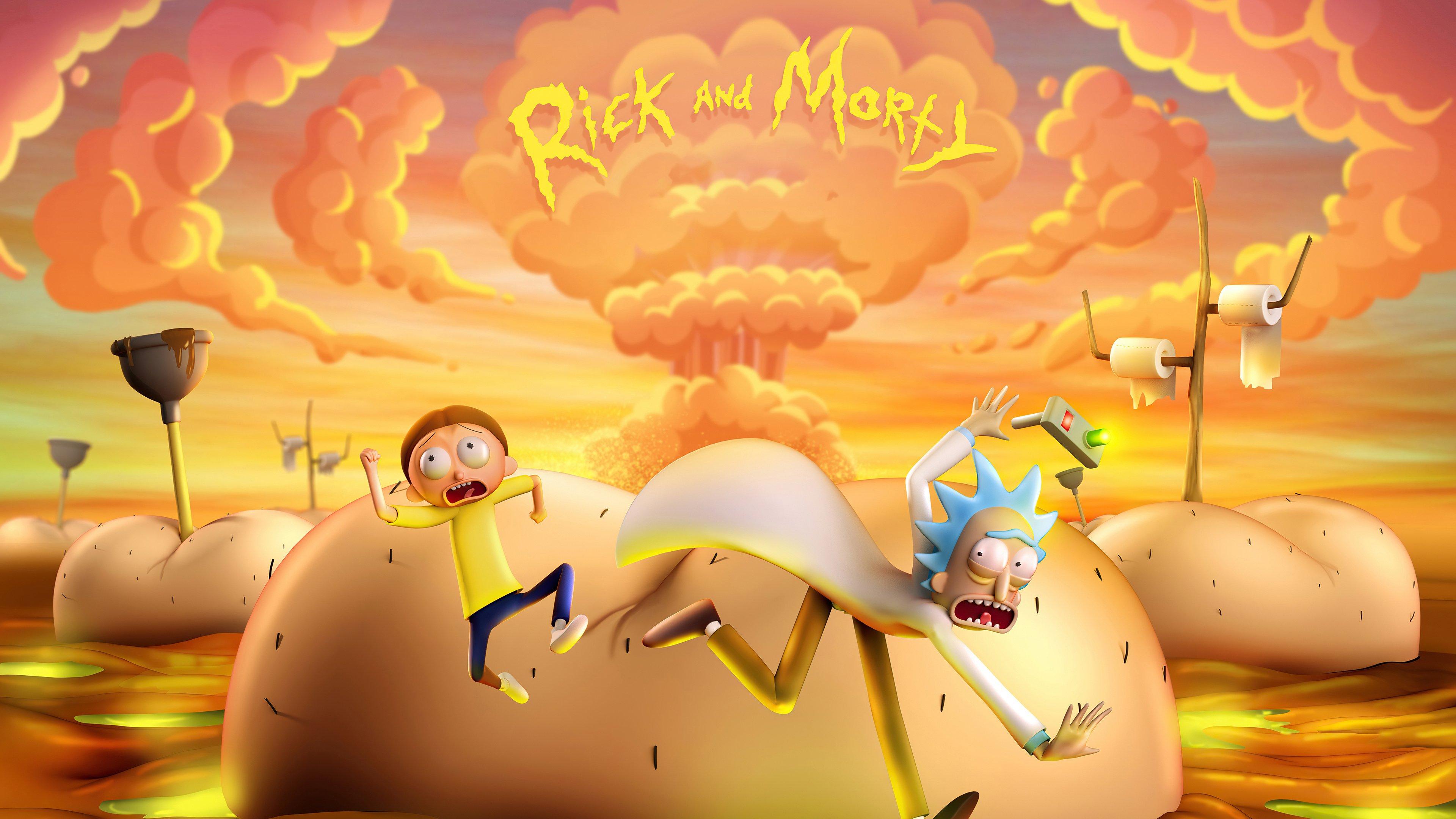 Fondos de pantalla Rick and Morty en 3D