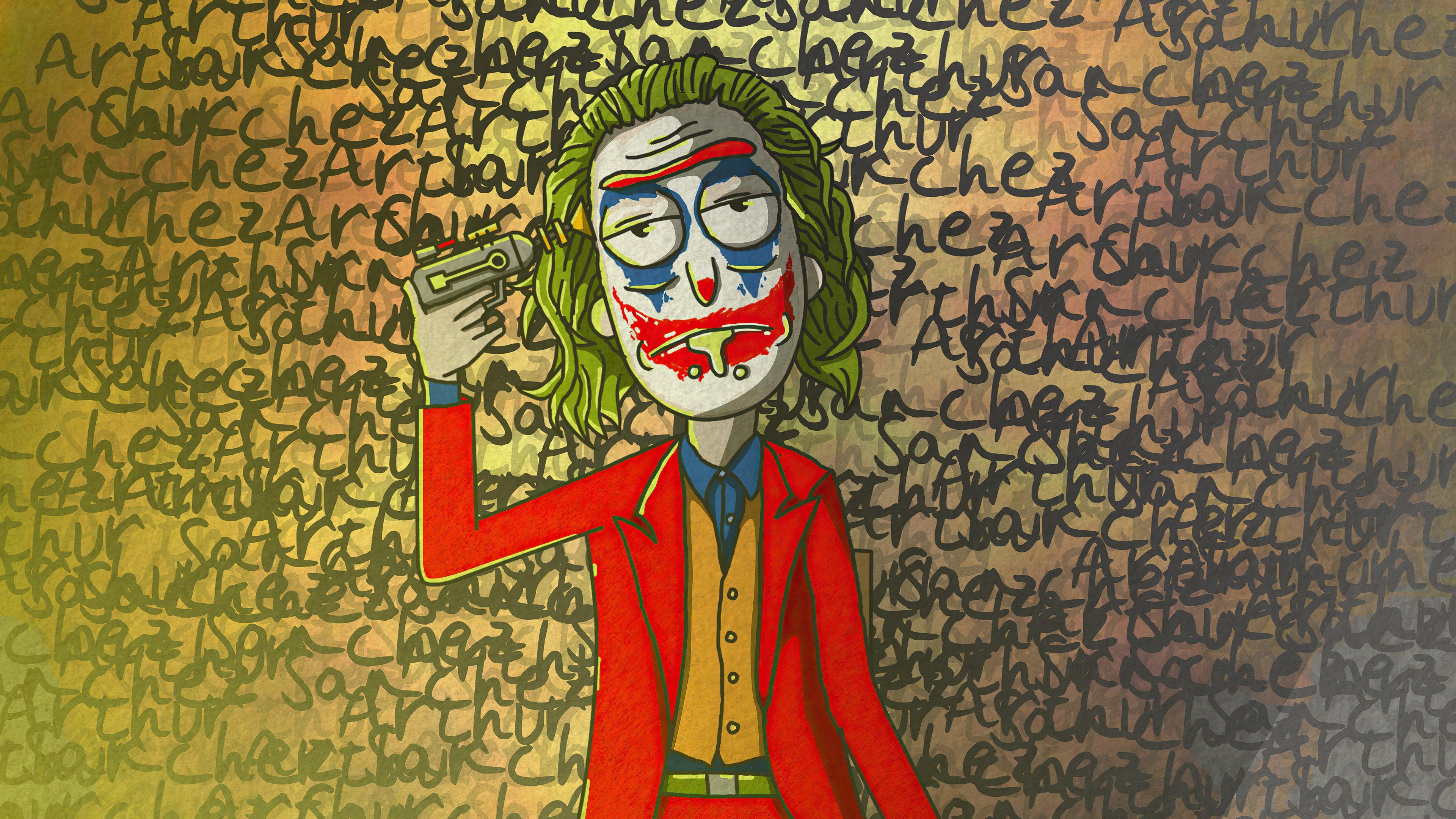 Fondos de pantalla Rick Sanchez como el Guasón