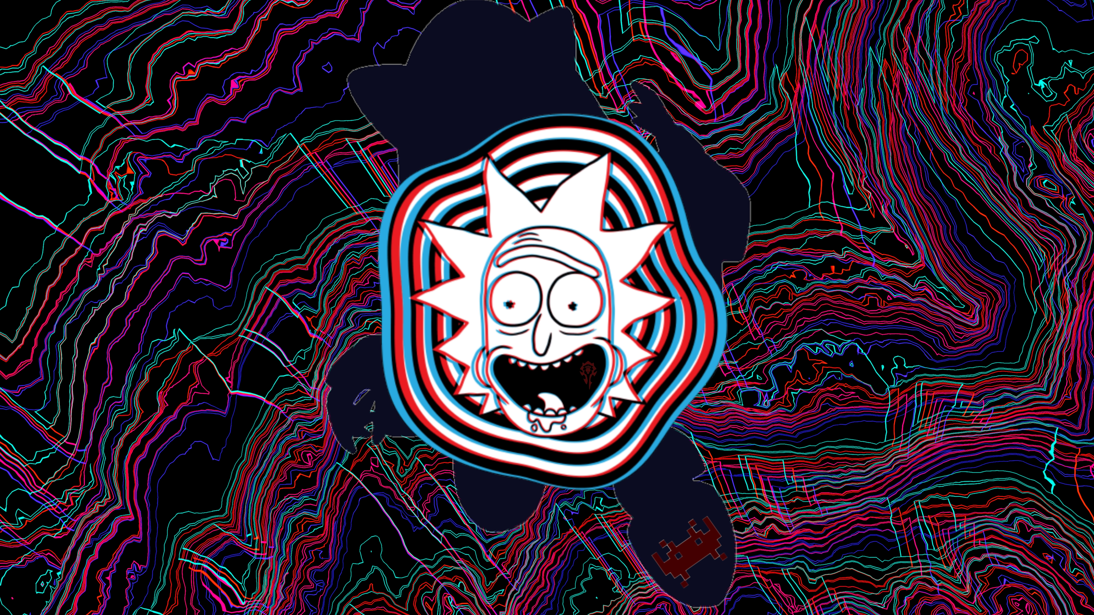 Wallpaper Rick Sanchez Glitch from Rick y Morty