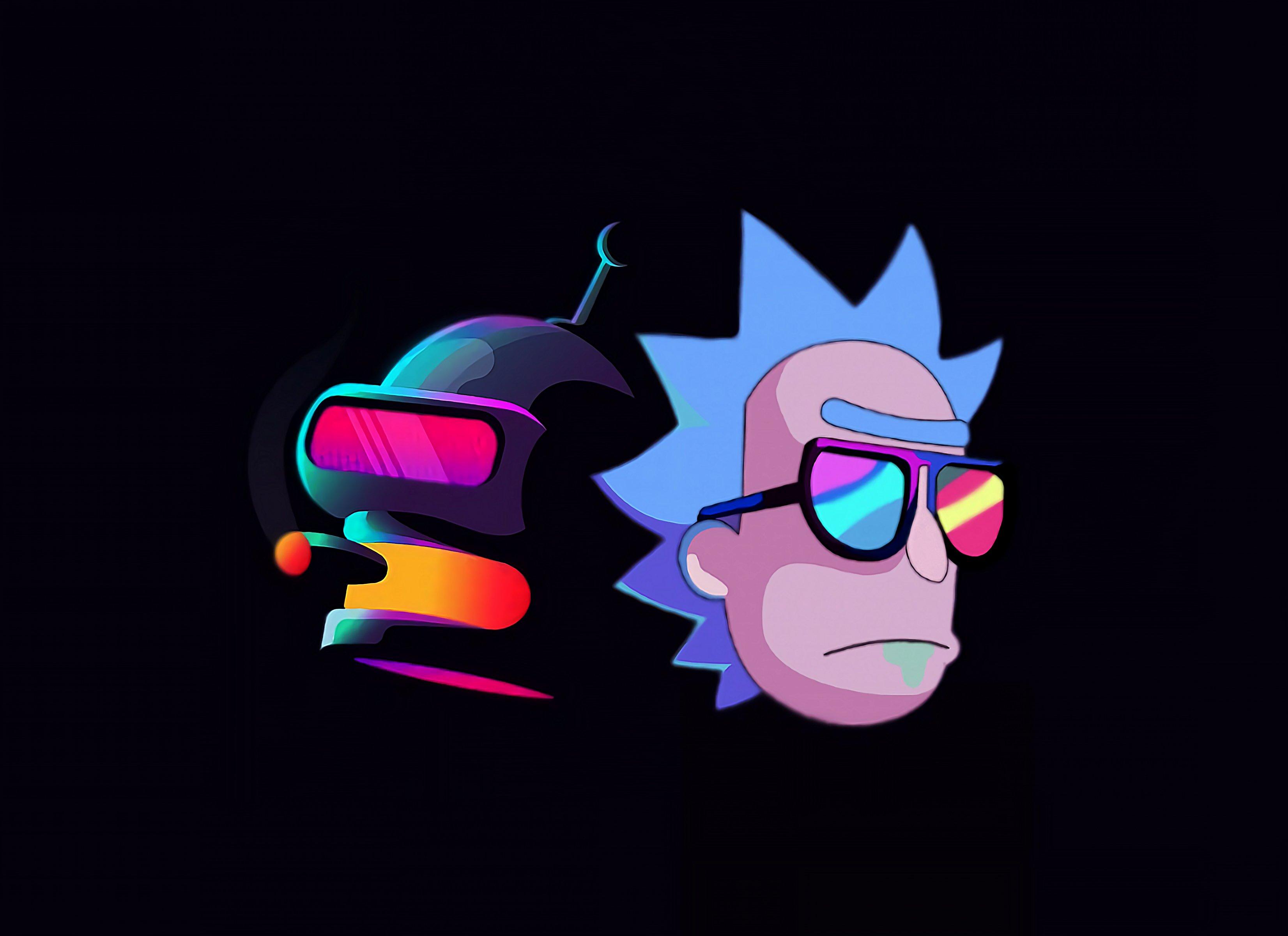 Fondos de pantalla Rick y Bender