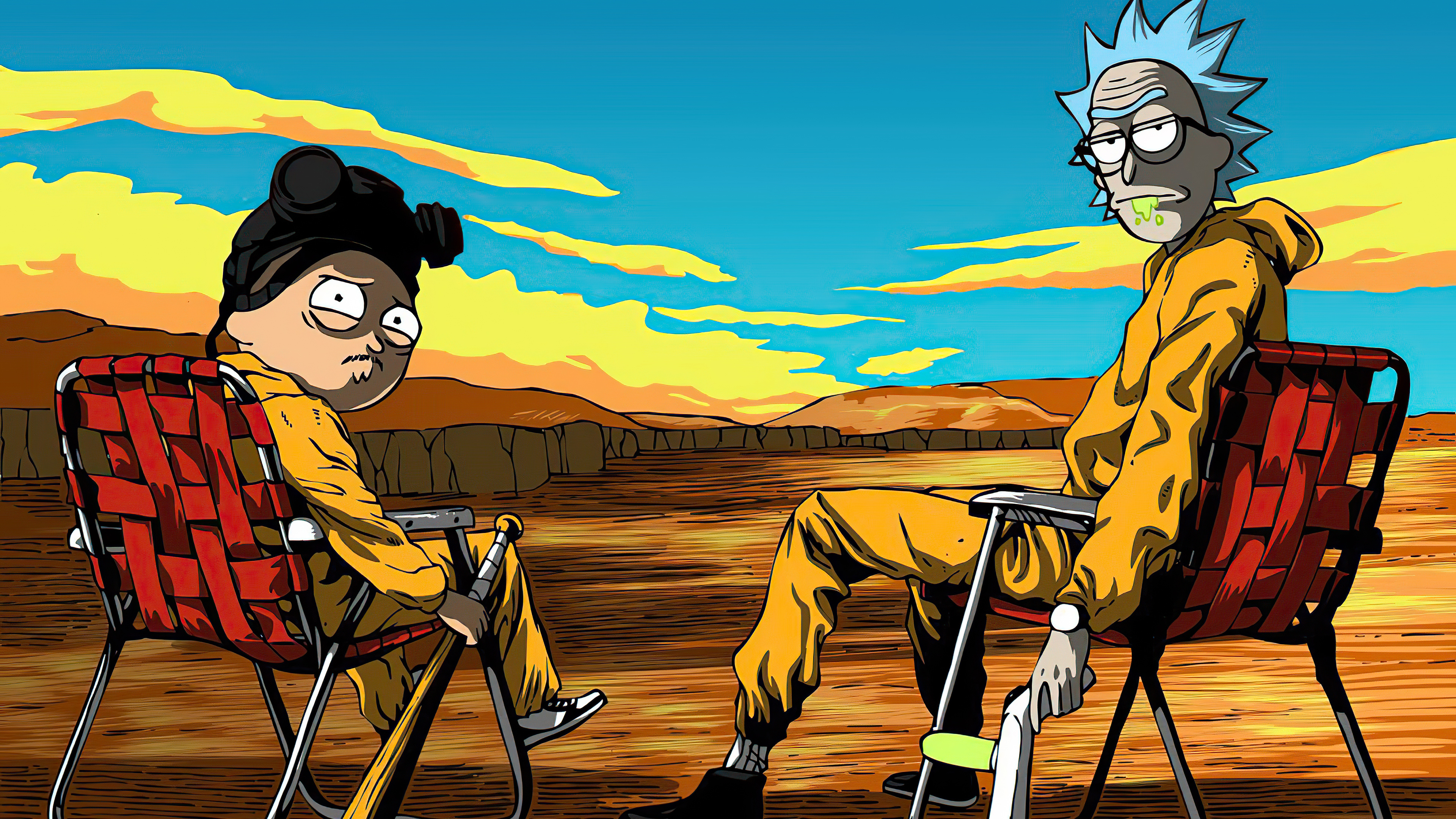 Rick and Morty as Breaking Bad Wallpaper 4k Ultra HD ID:5441