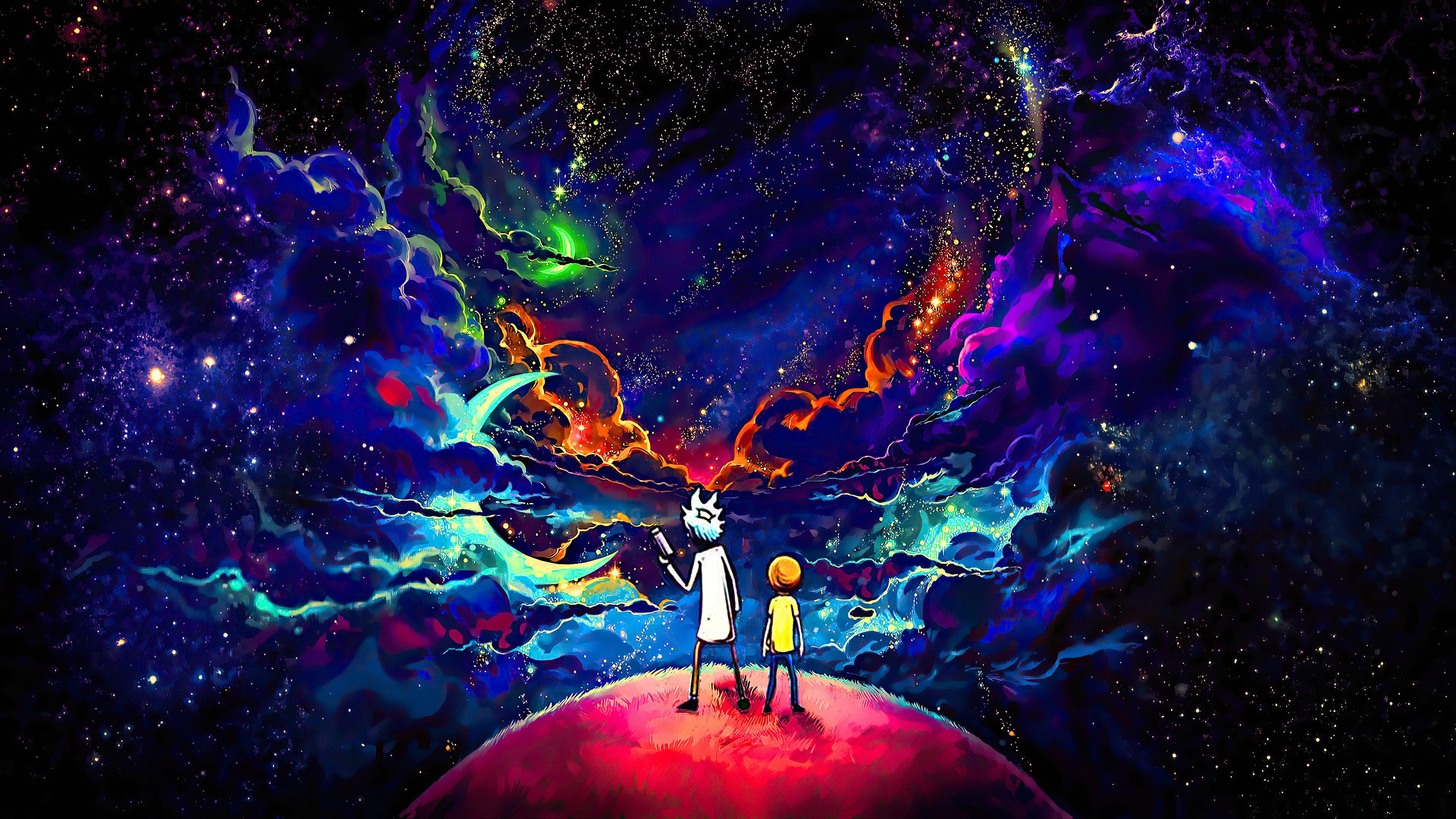 Fondos de pantalla Rick y Morty en el espacio