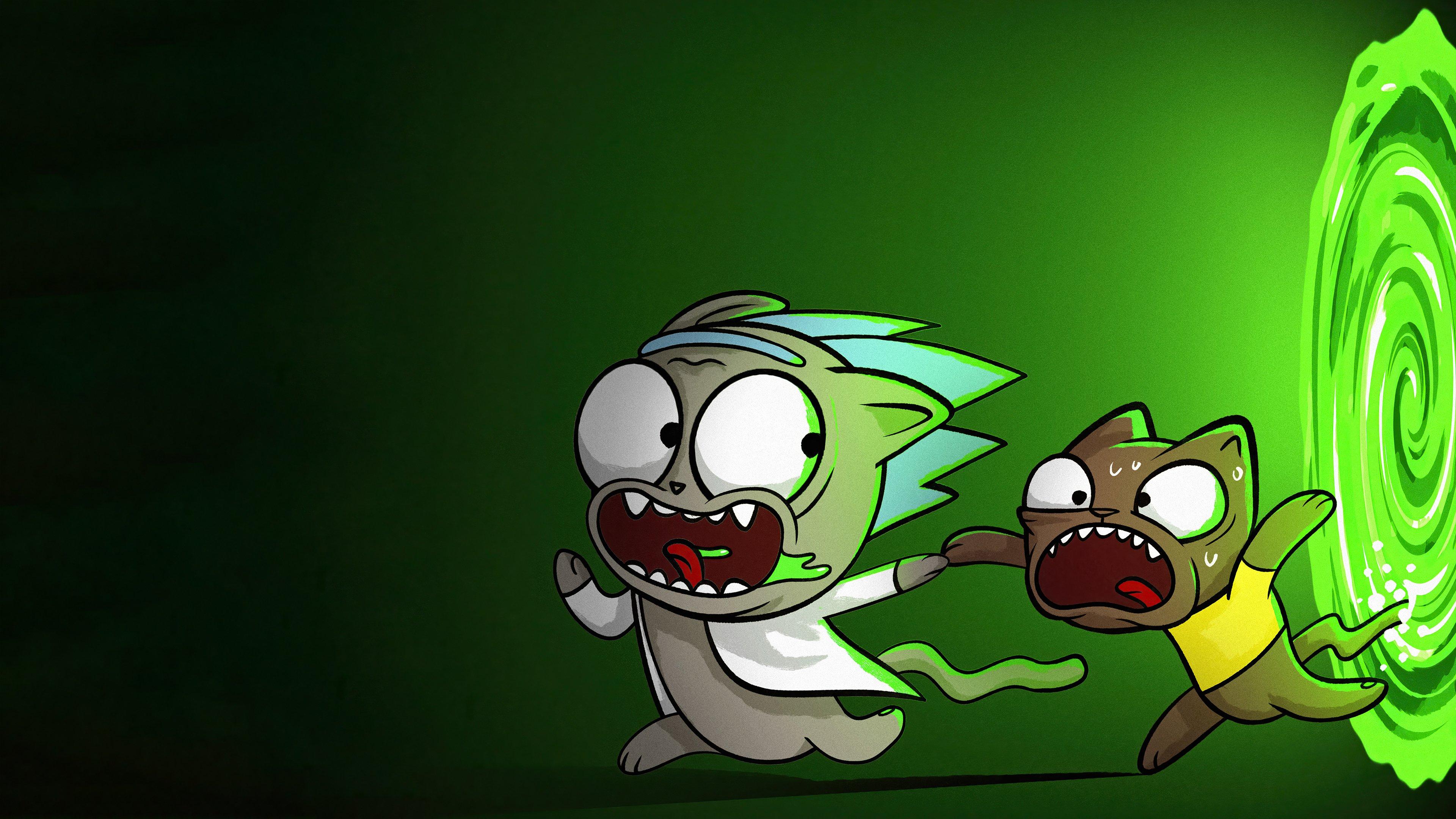 Fondos de pantalla Rick y Morty en otra dimensión