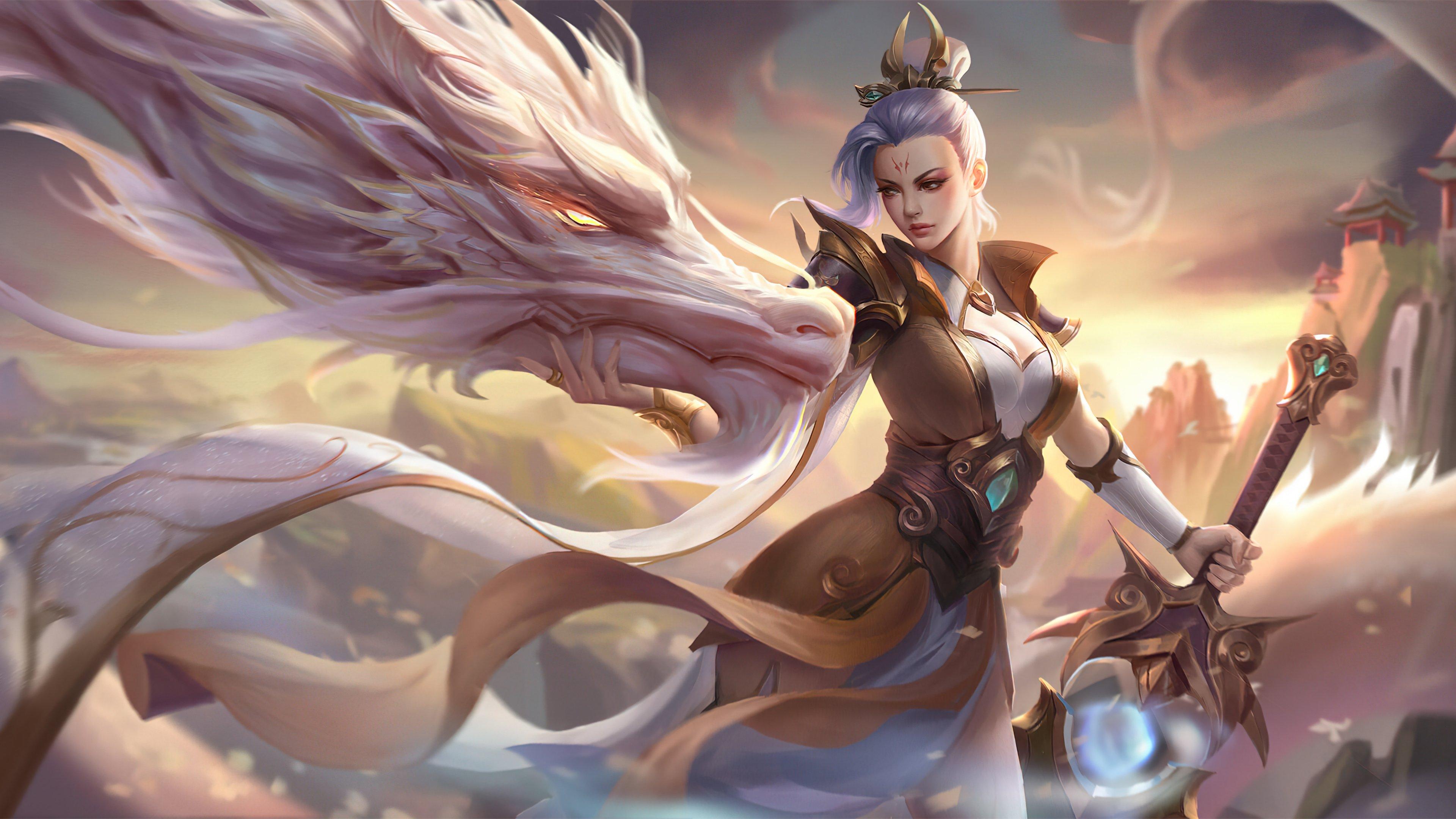 Fondos de pantalla Riven Valiant Sword Prestige League of Legends Arte