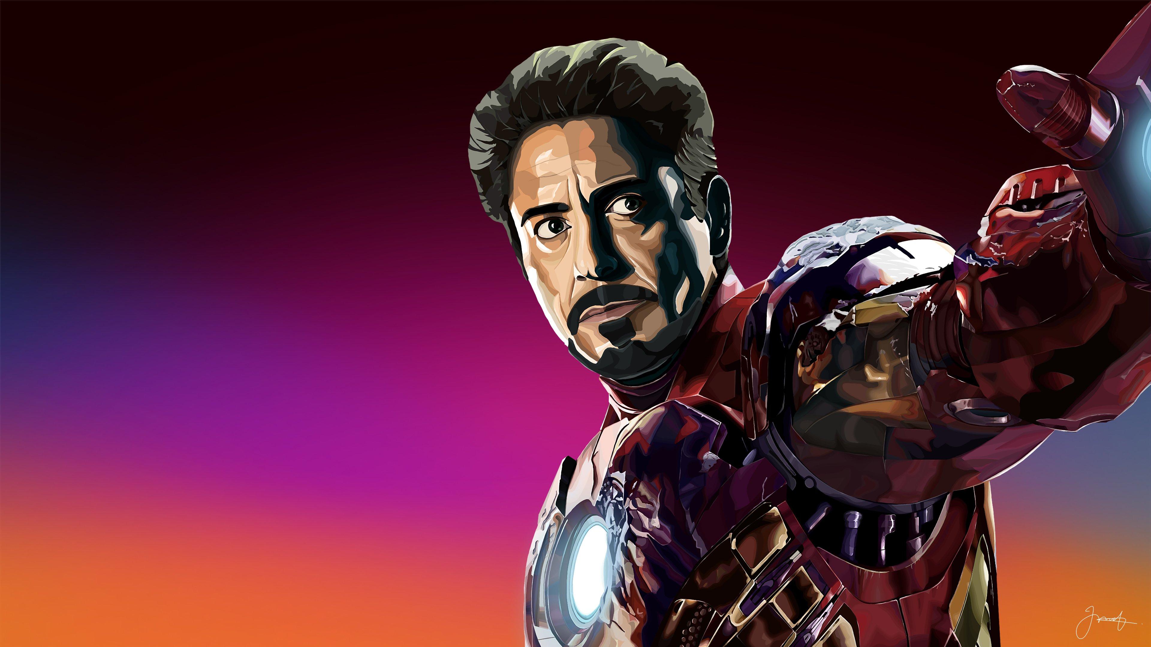 Wallpaper Robert Downey Jr asTony Stark Iron Man Fanart