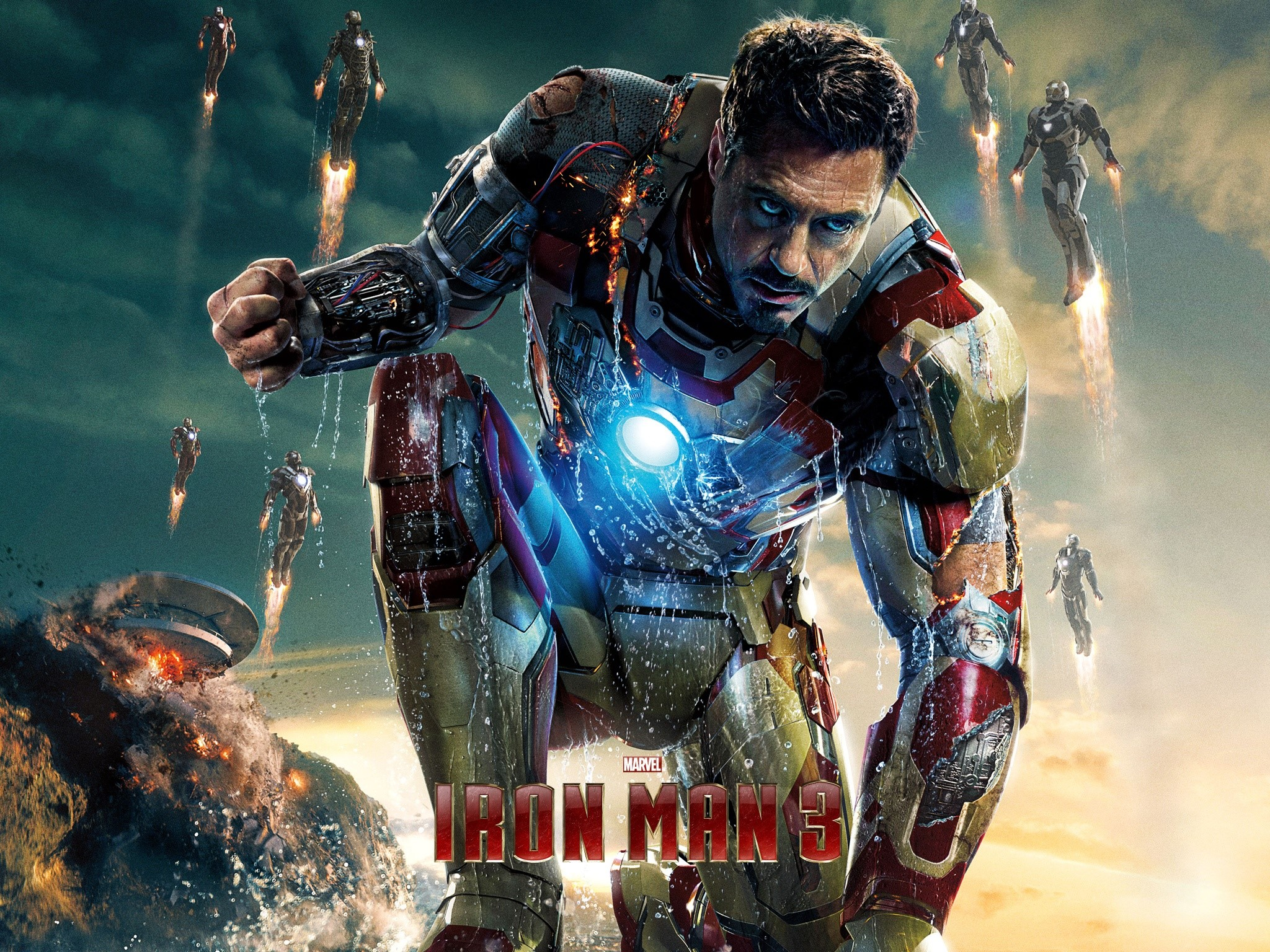 Fondos de pantalla Robert Downey Jr en Iron man 3