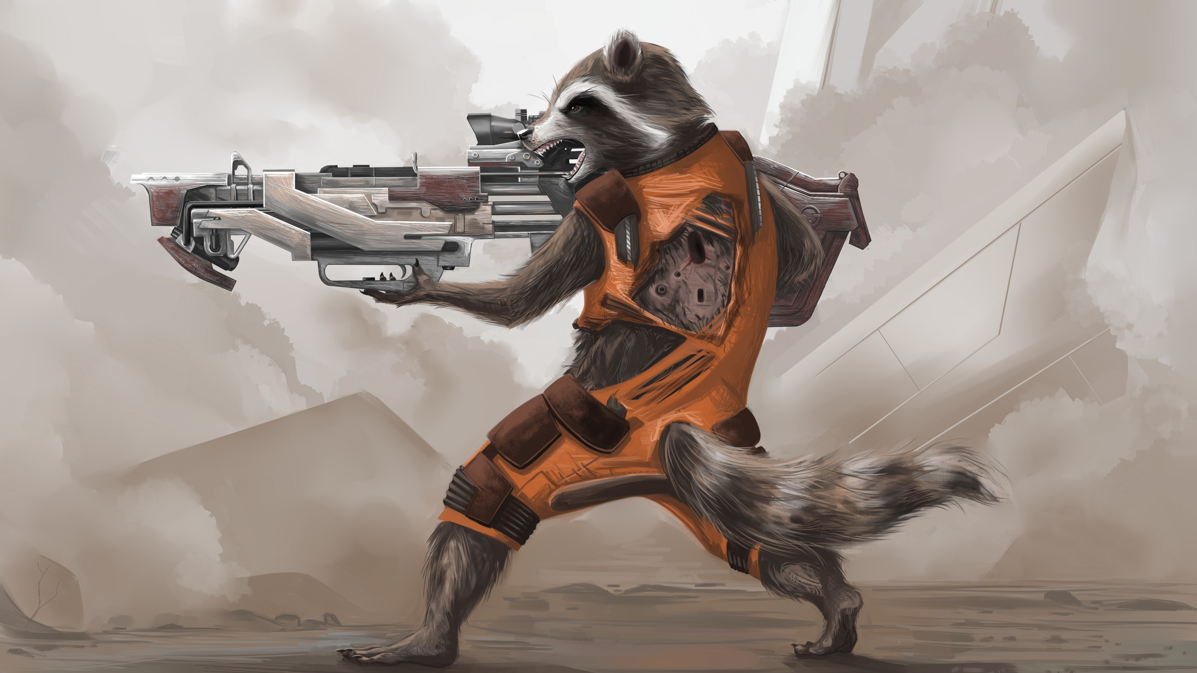 Wallpaper Rocket Raccoon of Guardians of the Galaxy
